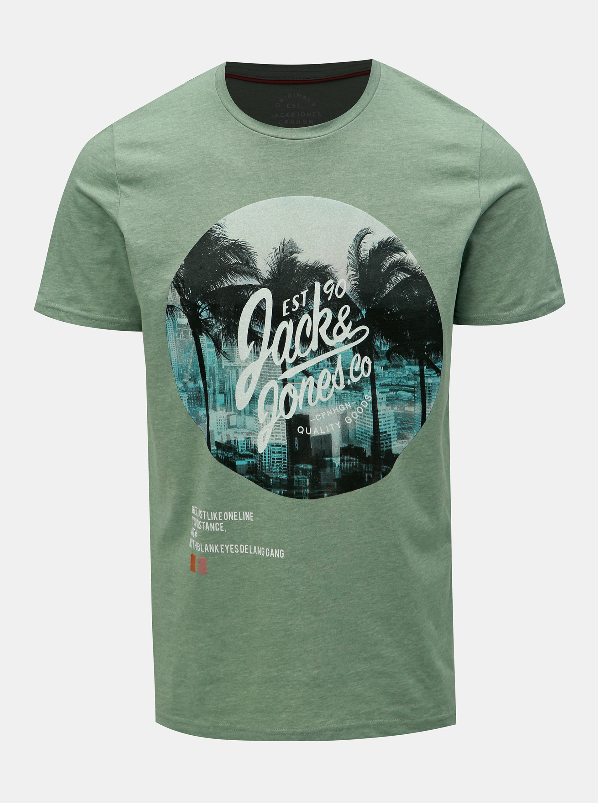 bb9d0bbe56f7 Zelené tričko s potlačou Jack   Jones Stuunt ...