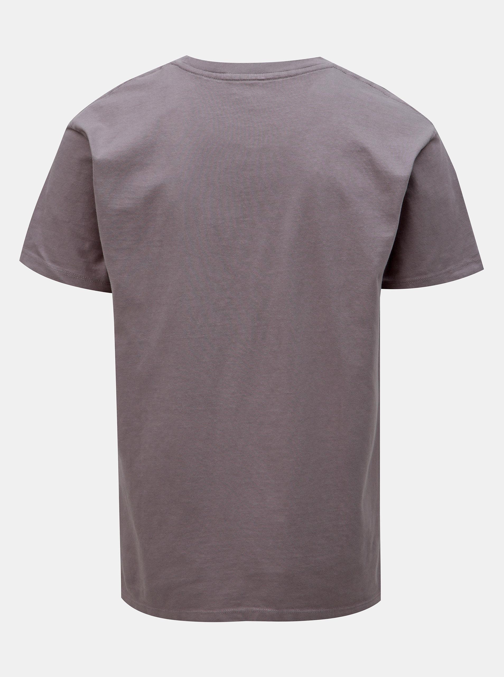 ac828d5c3 Fialové tričko s potlačou Jack & Jones Luke ...