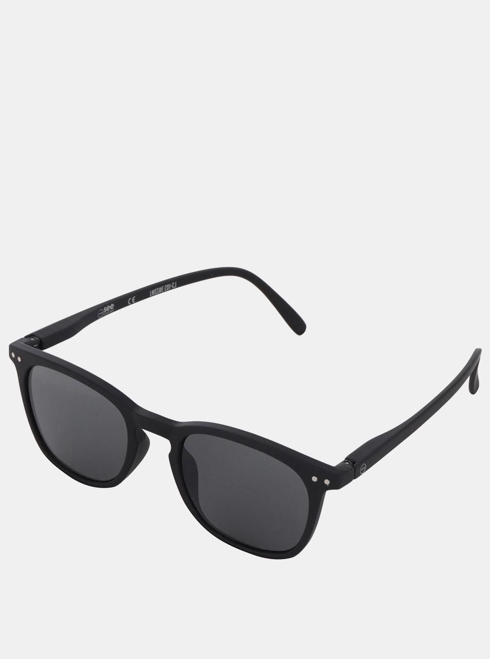 Černé sluneční brýle s černými skly IZIPIZI #E