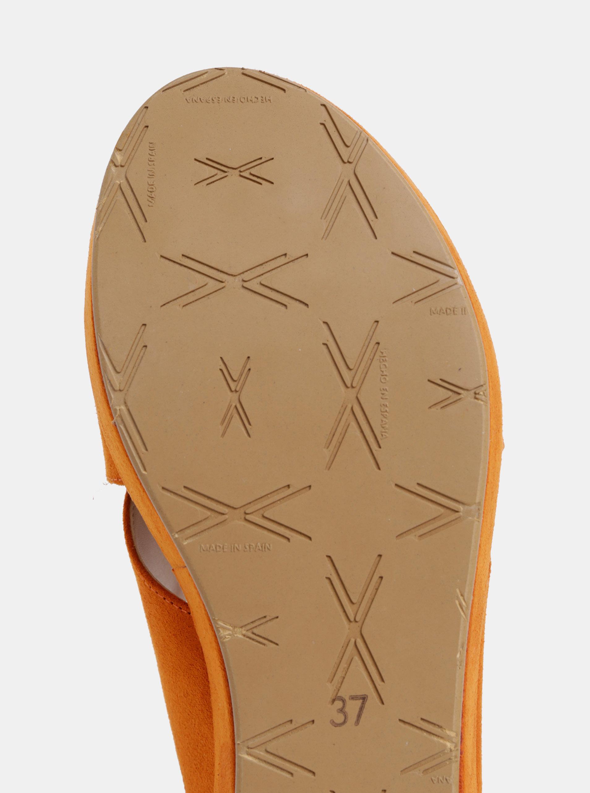 20865c734208 Oranžové šľapky na platforme v semišovej úprave OJJU Luxury ...