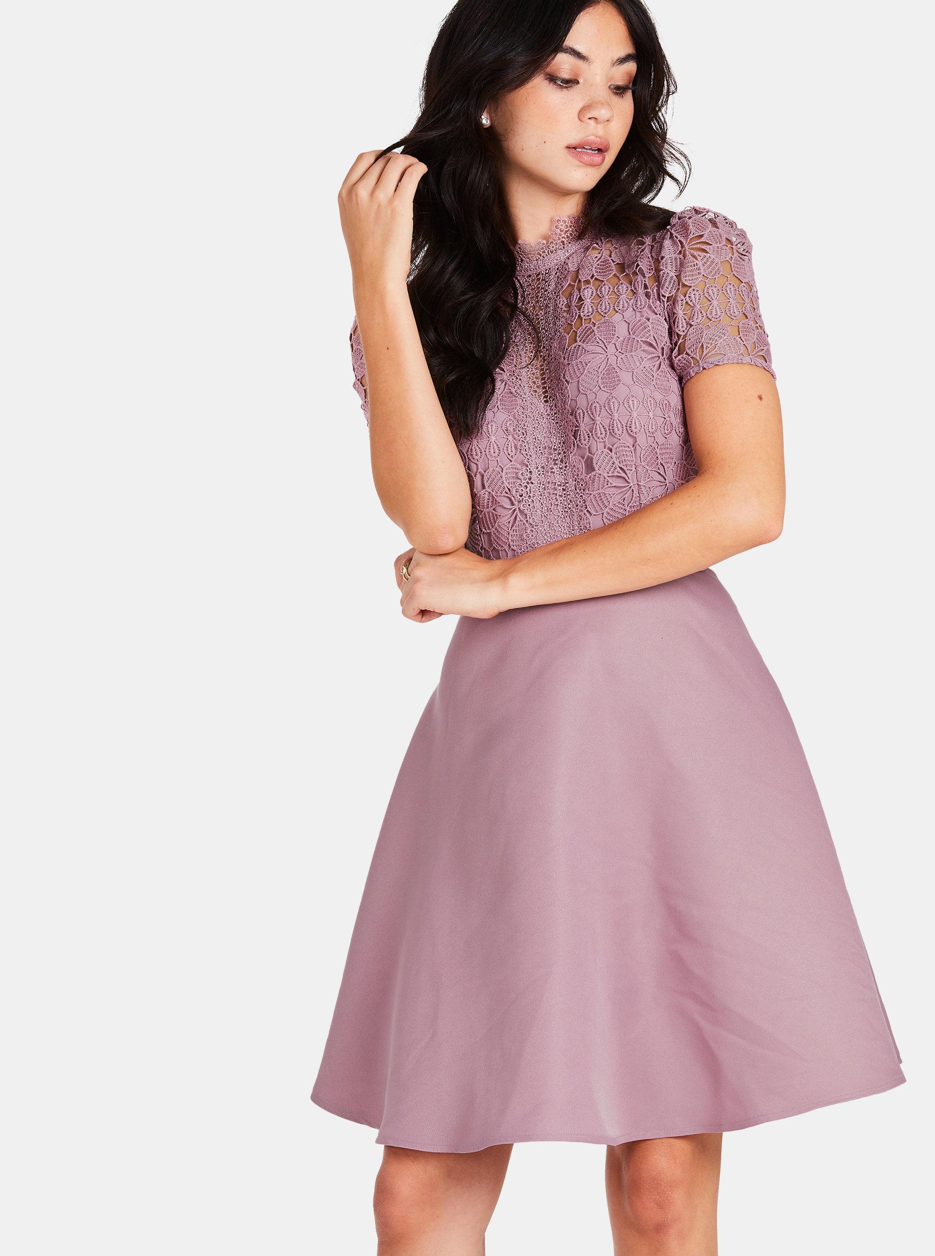 6efac2f06a84 Staroružové šaty s čipkou Little Mistress ...