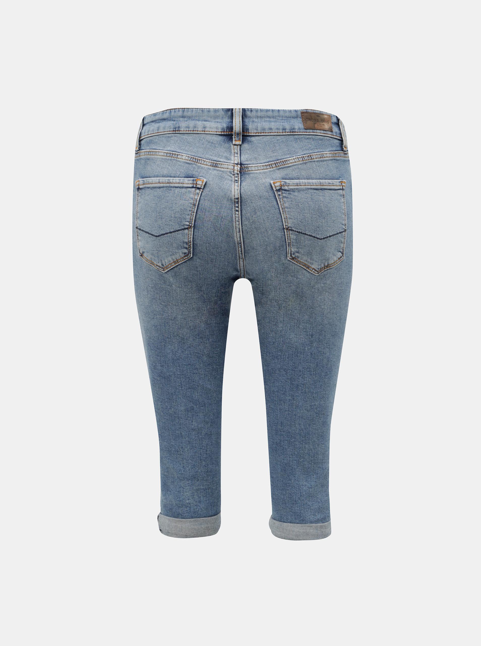 77a281f2e7 Modré dámske rifľové kraťasy Cross Jeans Adele ...