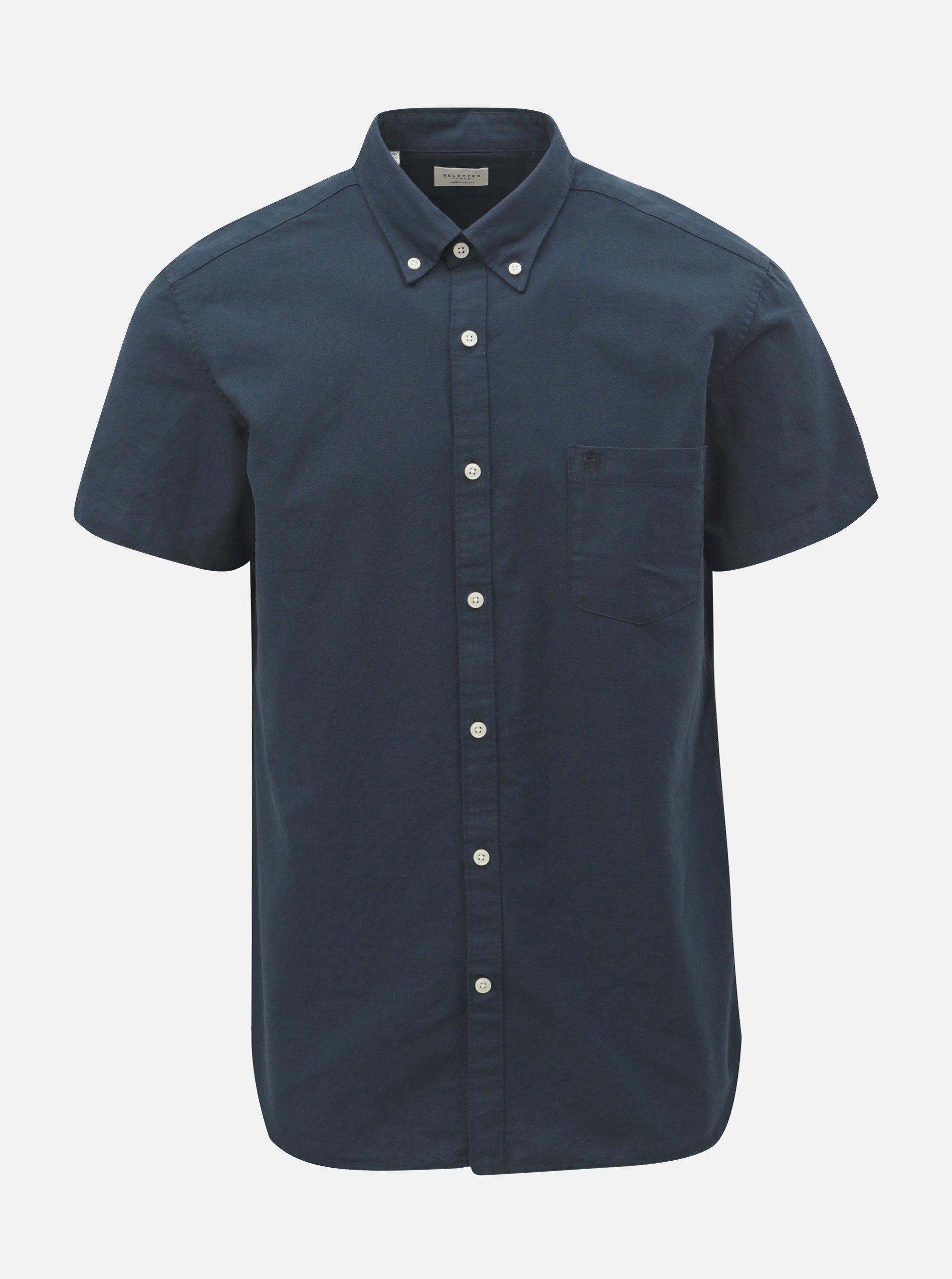Tmavě modrá regular fit košile Selected Homme Collect