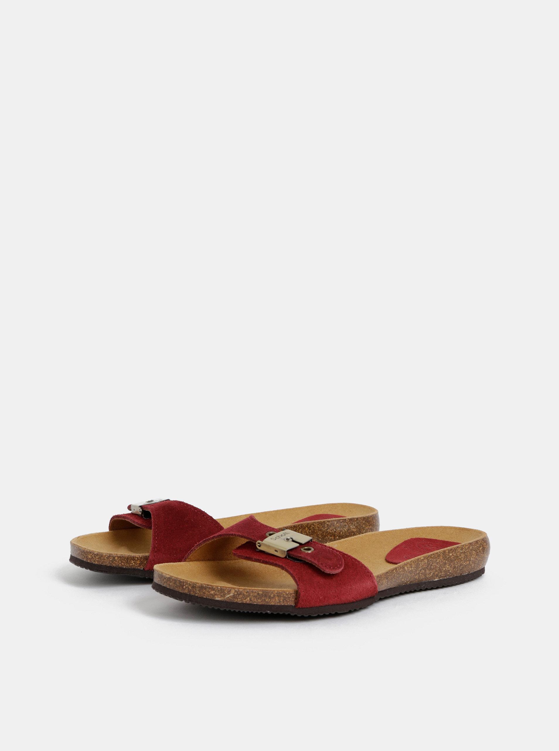 269819624ca4 Vínové dámské semišové pantofle Scholl Bahama ...
