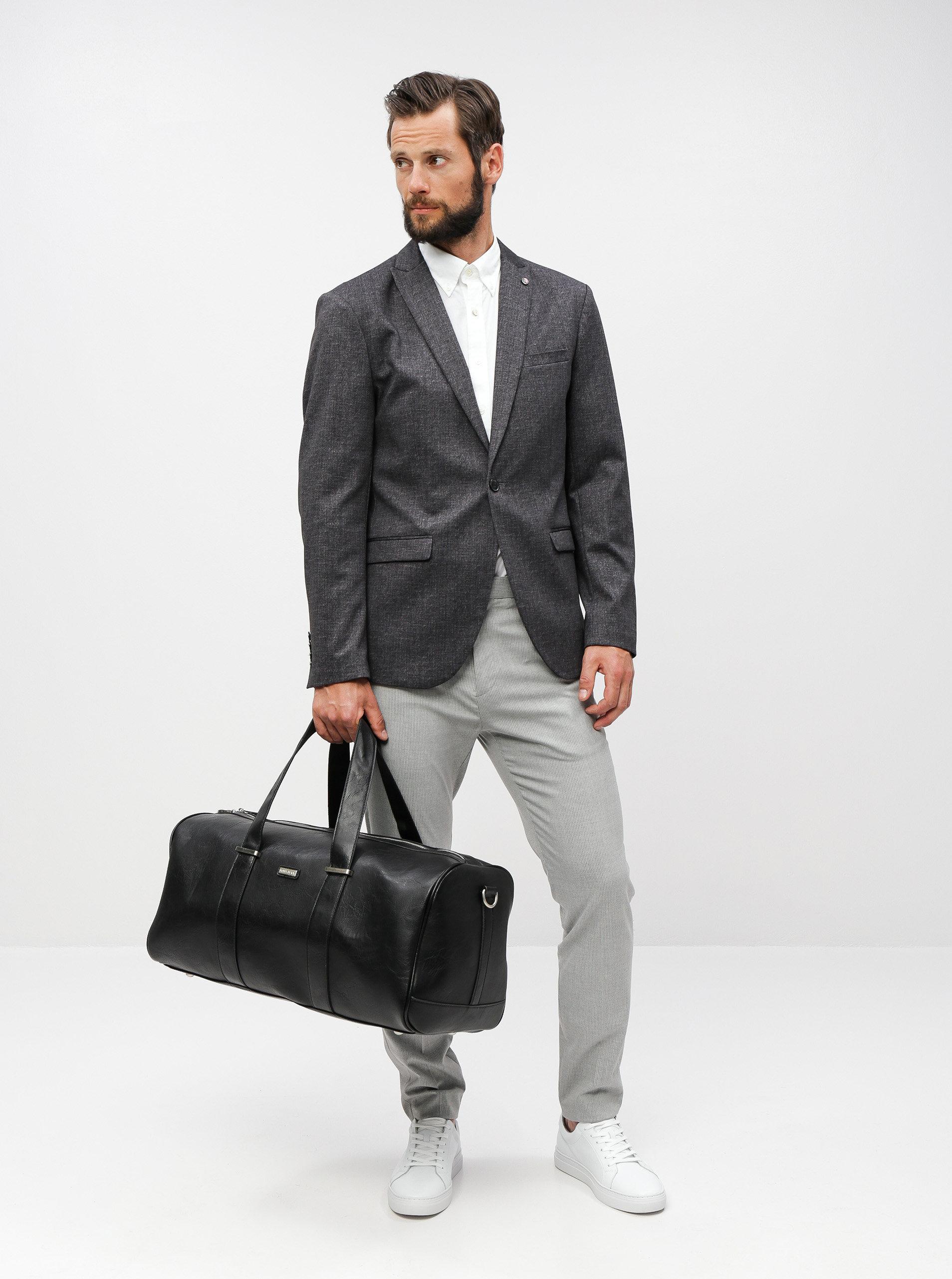 c637cdd01f Čierna cestovná taška Bobby Black ...