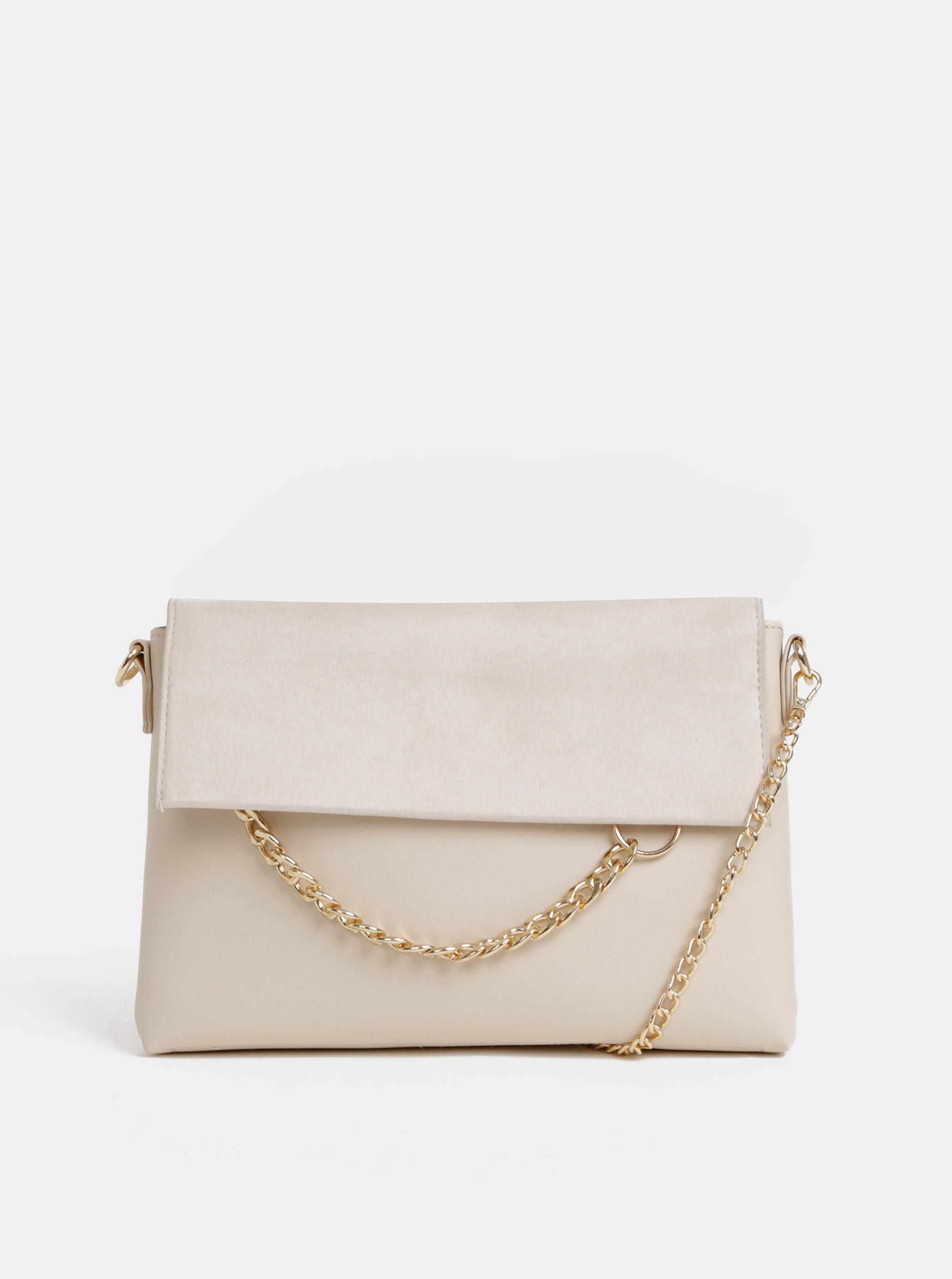 00b99267f3 Krémová crossbody kabelka s detailom v semišovej úprave Dorothy Perkins ...
