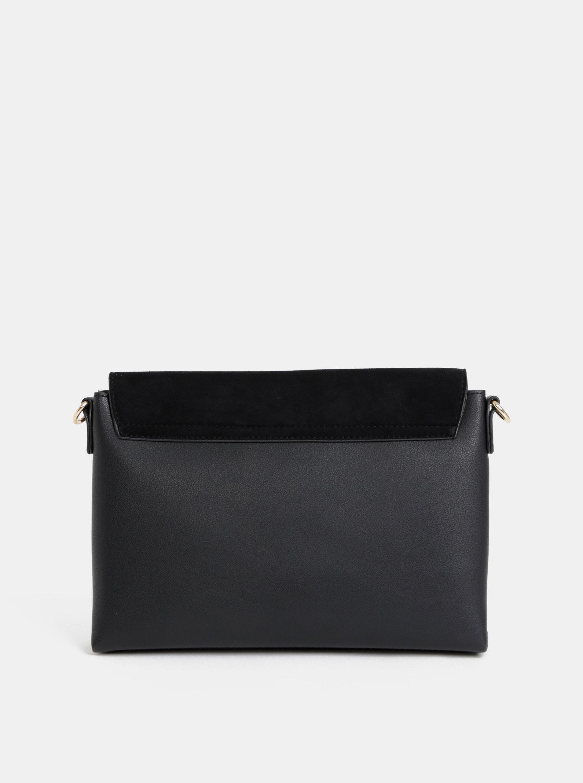 fa5580718b Čierna crossbody kabelka s detailom v semišovej úprave Dorothy Perkins ...