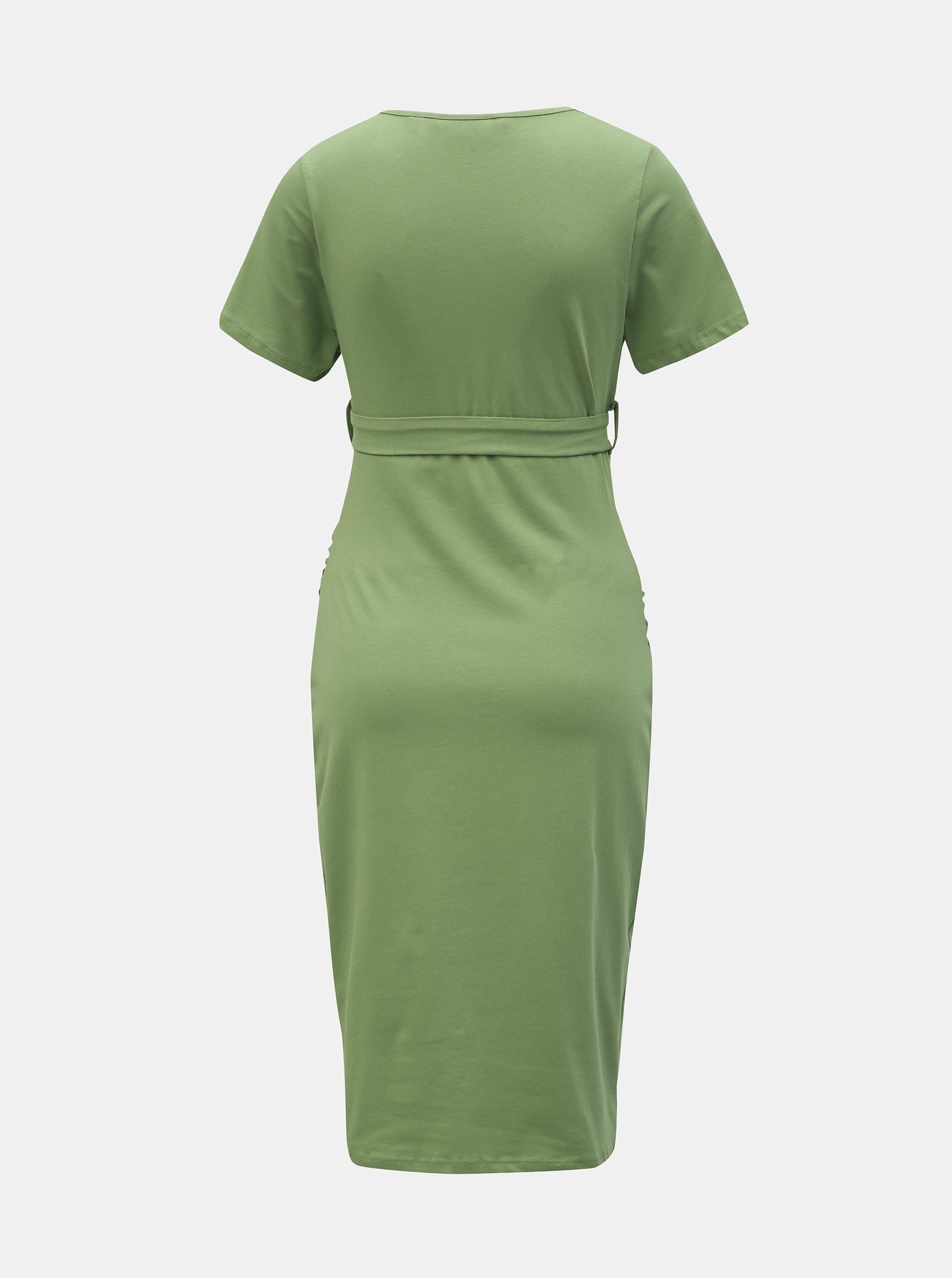 0131a3dad80a Zelené tehotenské puzdrové šaty Dorothy Perkins Maternity ...