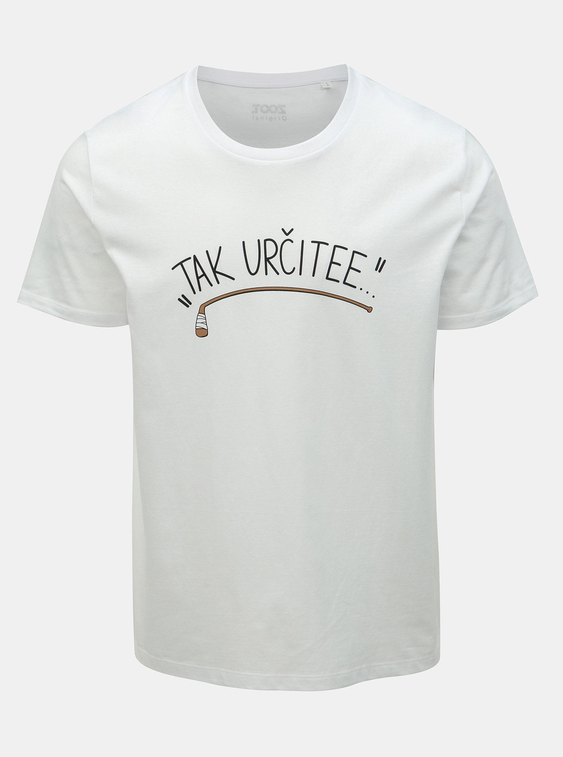 d7e72042b530b Biele pánske hokejové tričko ZOOT Original Tak určitee   ZOOT.sk