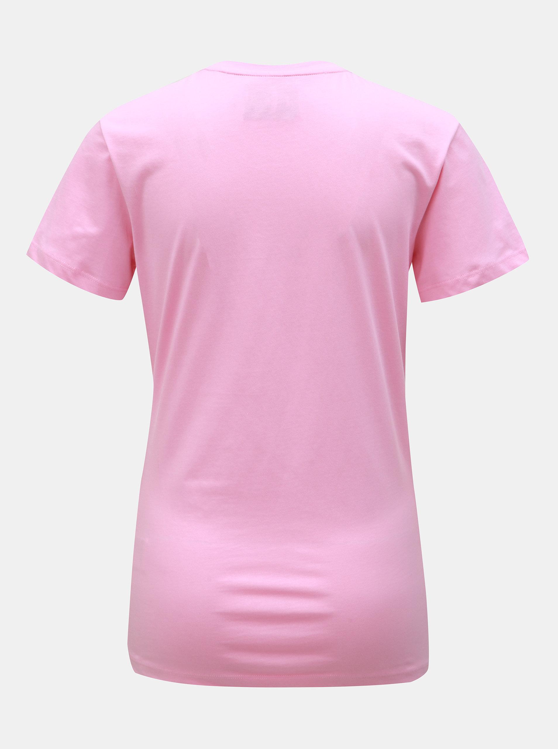 e9c0d441c2c1 Růžové dámské tričko s potiskem Calvin Klein Jeans ...