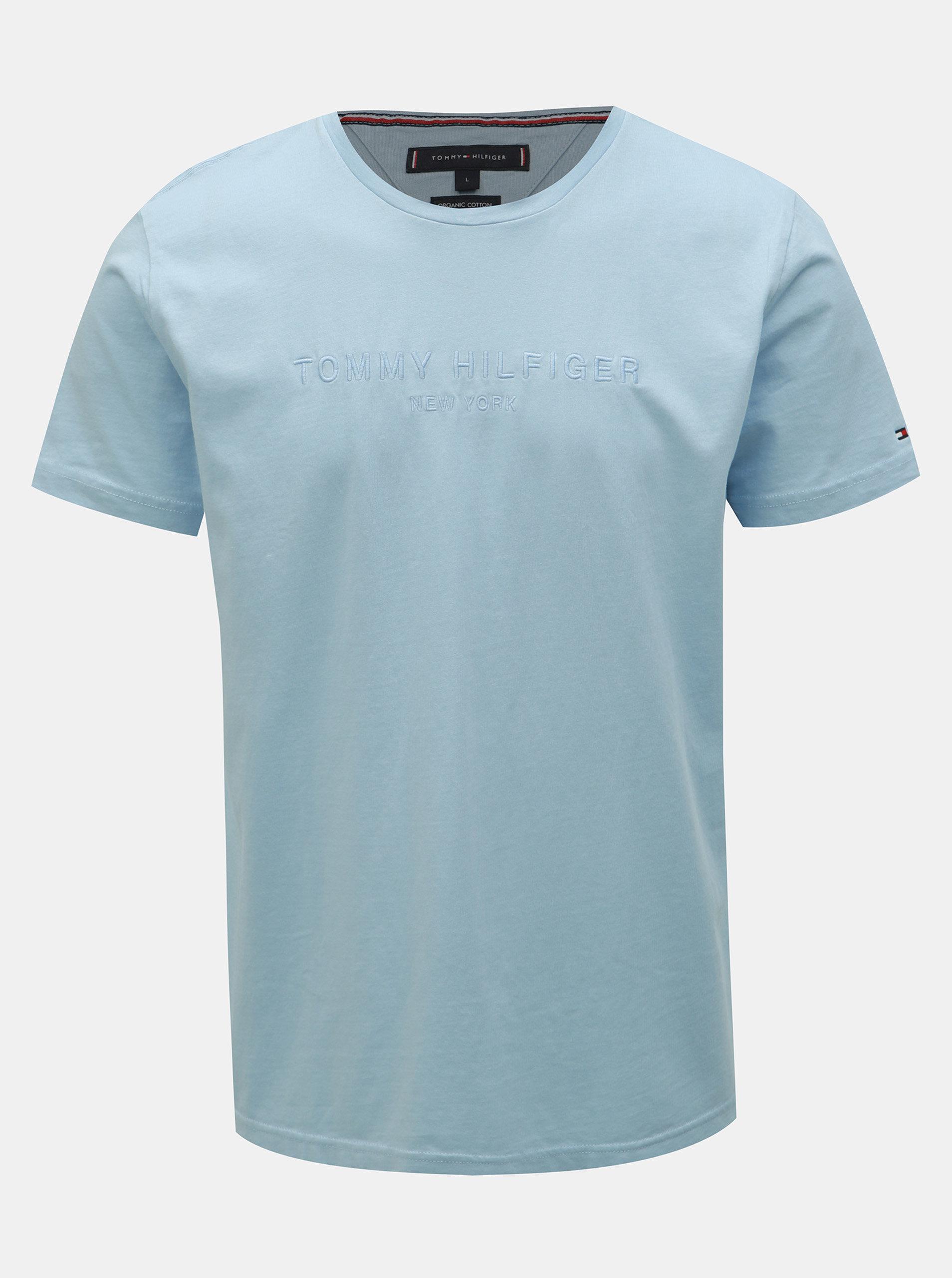 afd77e4b8d Světle modré pánské tričko Tommy Hilfiger ...