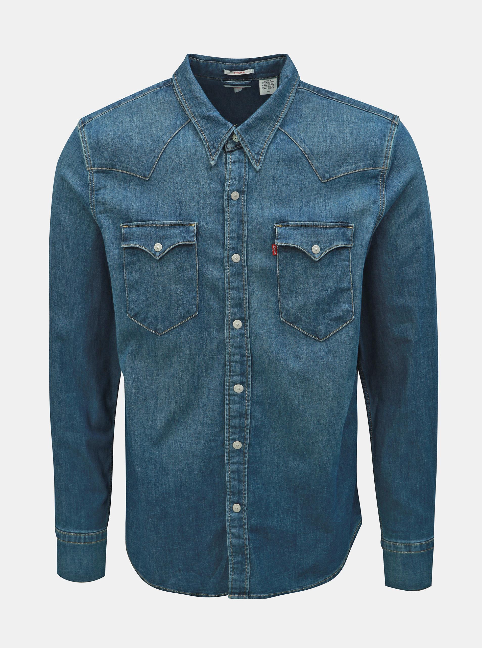 bfd62076230d Modrá pánska rifľová košeľa Levi s® ...