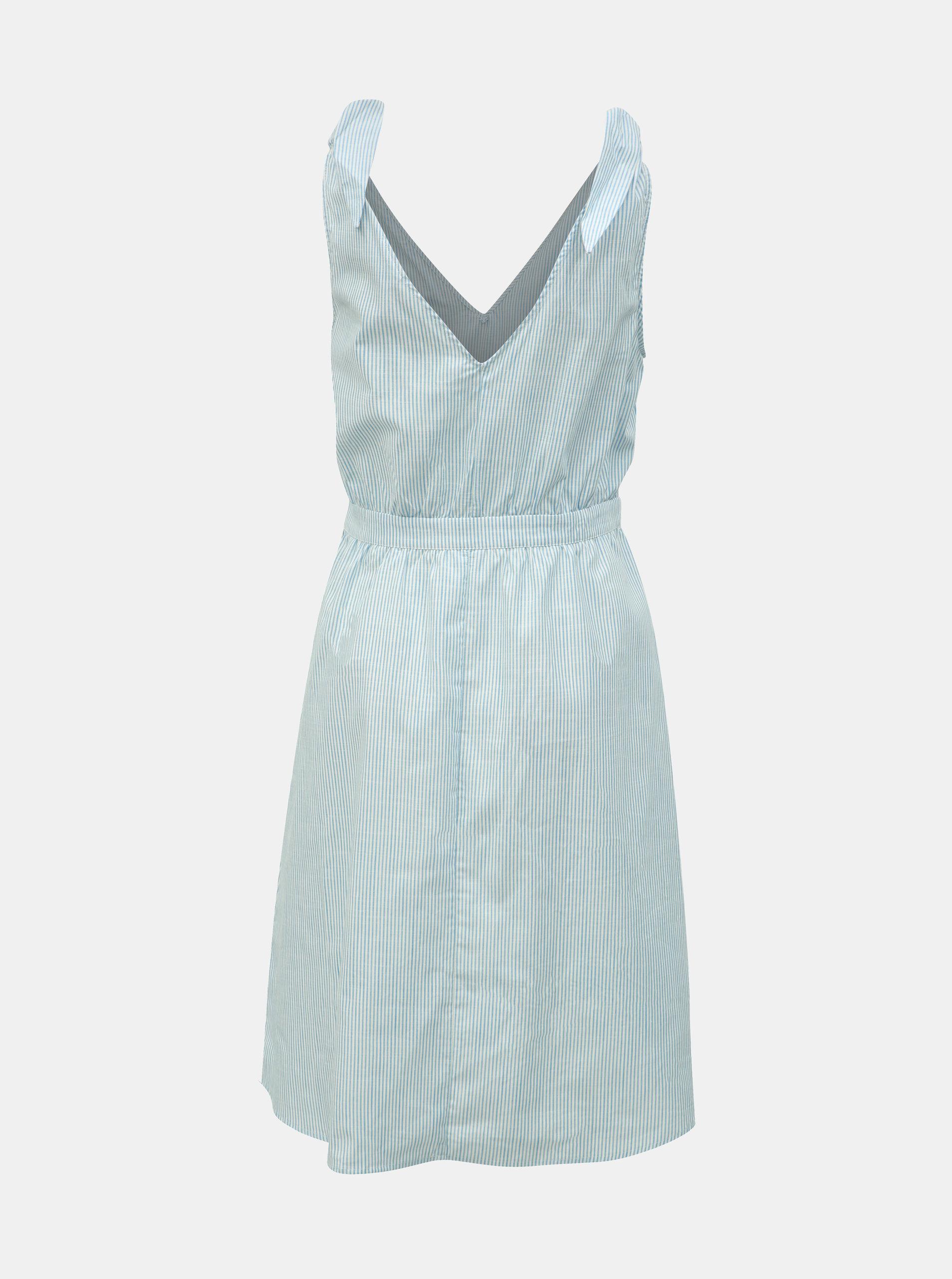 72722af48 Svetlomodré pruhované šaty VILA Gladys | ZOOT.sk