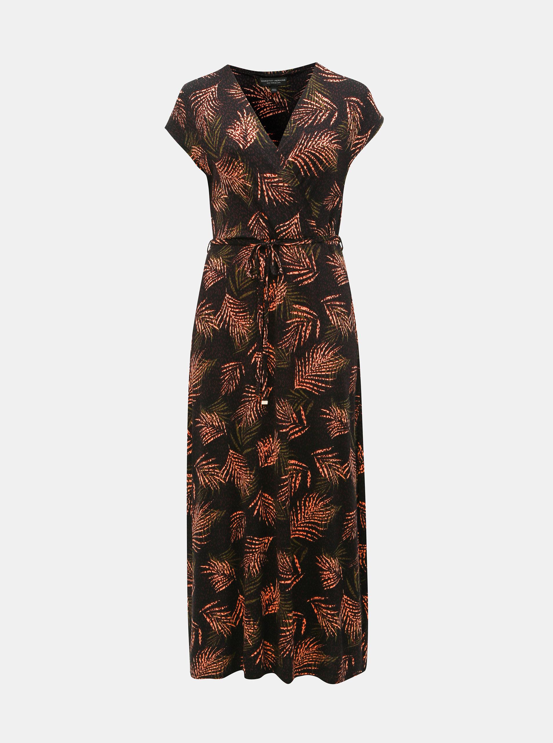 ed047ff67c Čierne vzorované maxišaty Dorothy Perkins Curve ...