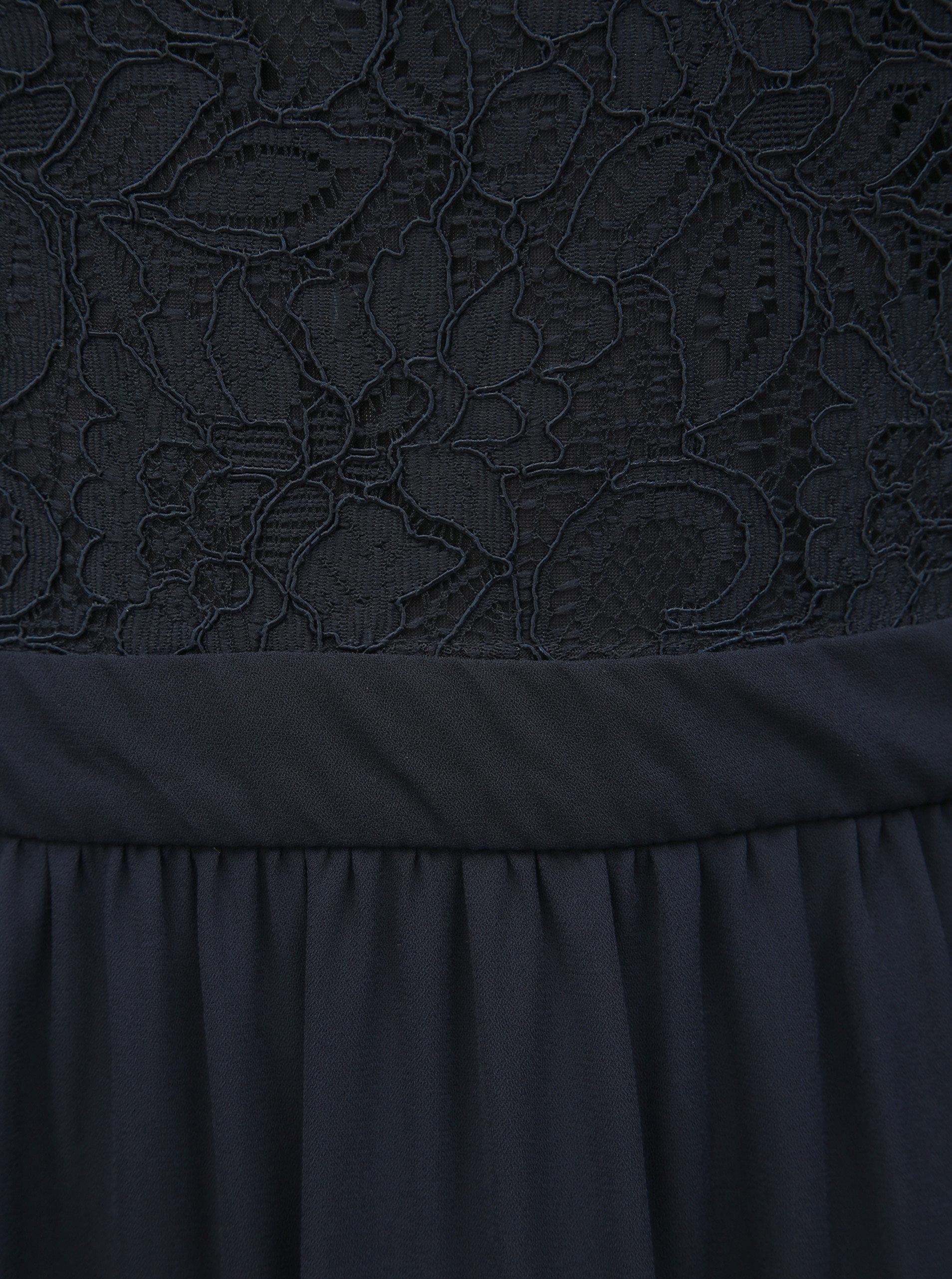 4151c273ca78 Tmavě modré maxišaty s krajkou ONLY Analina ...