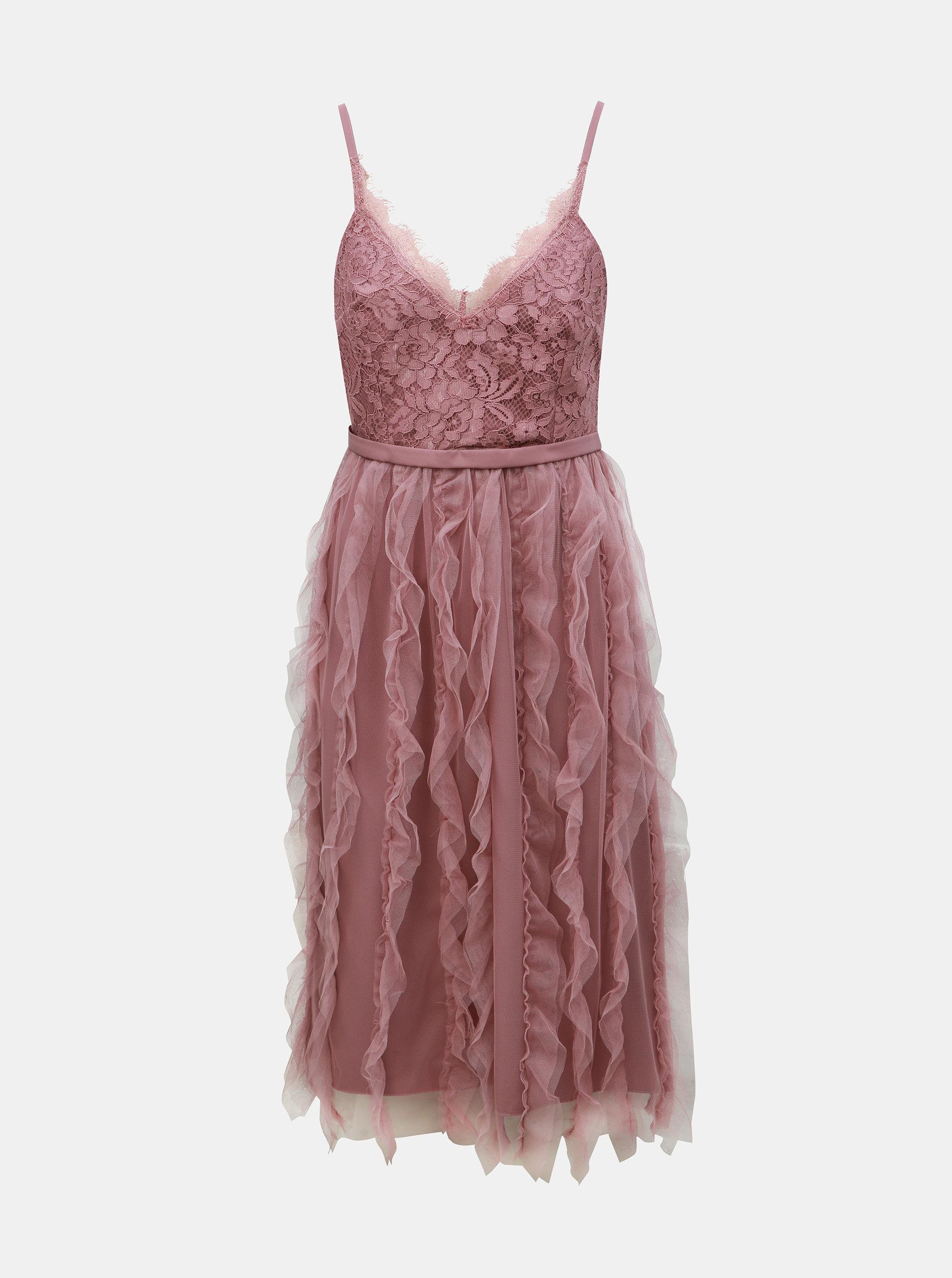 43357de33531 Staroružové šaty na ramienka s čipkou Little Mistress ...