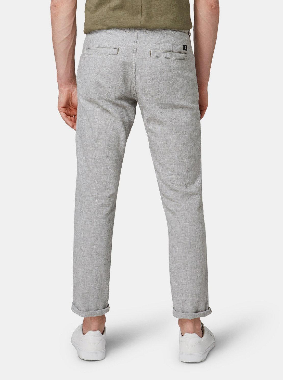 de99b0af92a7 Svetlosivé pánske melírované chino nohavice s prímesou ľanu Tom Tailor Denim  ...