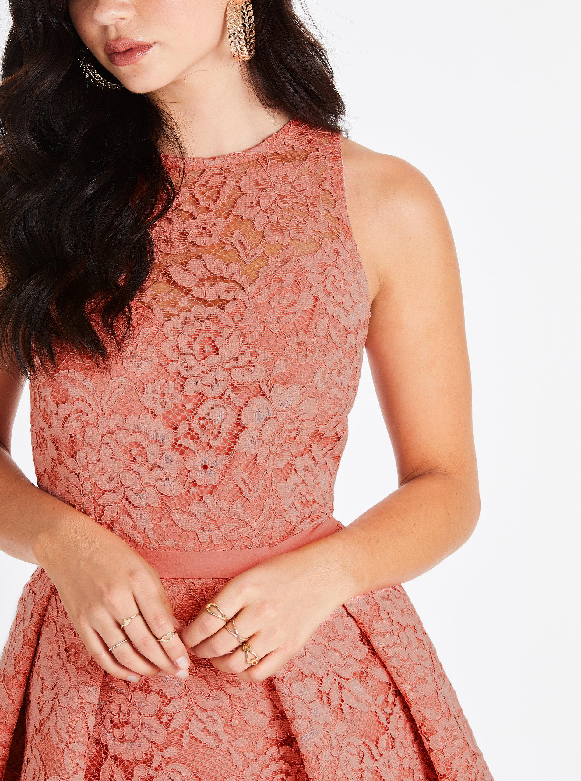 694b509f1 Marhuľové čipkované šaty Little Mistress | ZOOT.sk