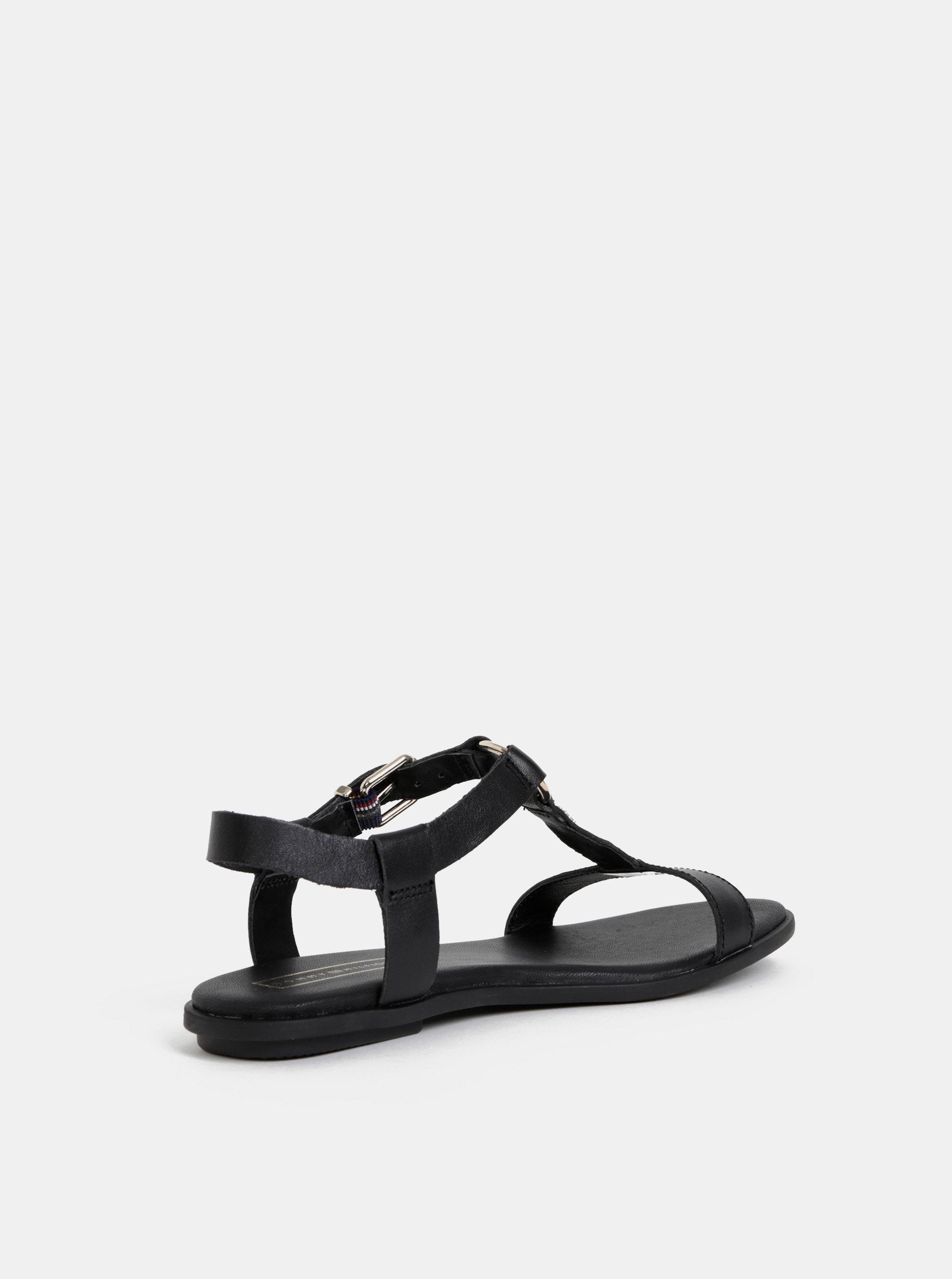 9977edc099847 Čierne dámske kožené sandálky Tommy Hilfiger   ZOOT.sk