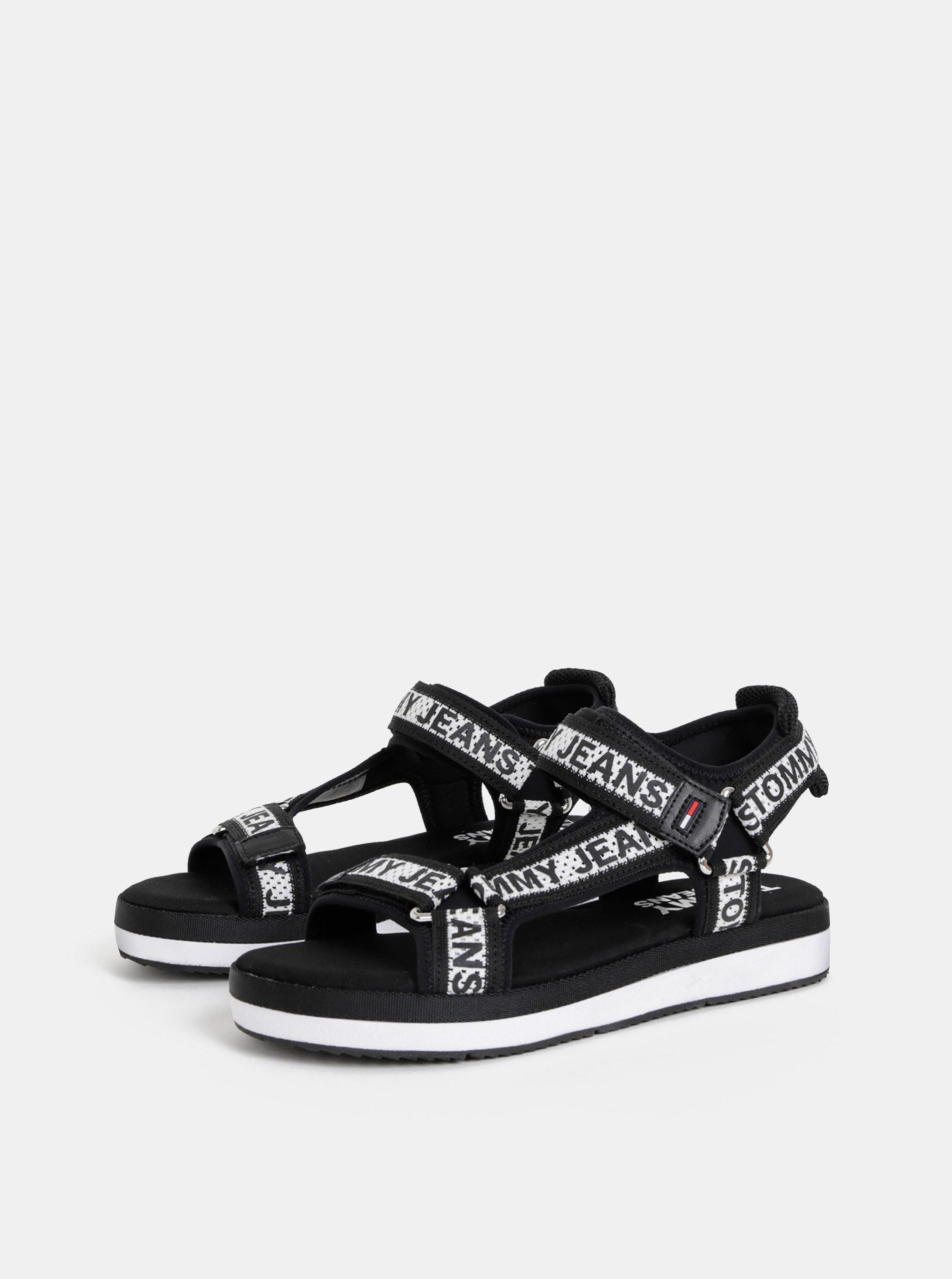 3e46491ff2c2e Čierne dámske vzorované sandále Tommy Hilfiger   ZOOT.sk