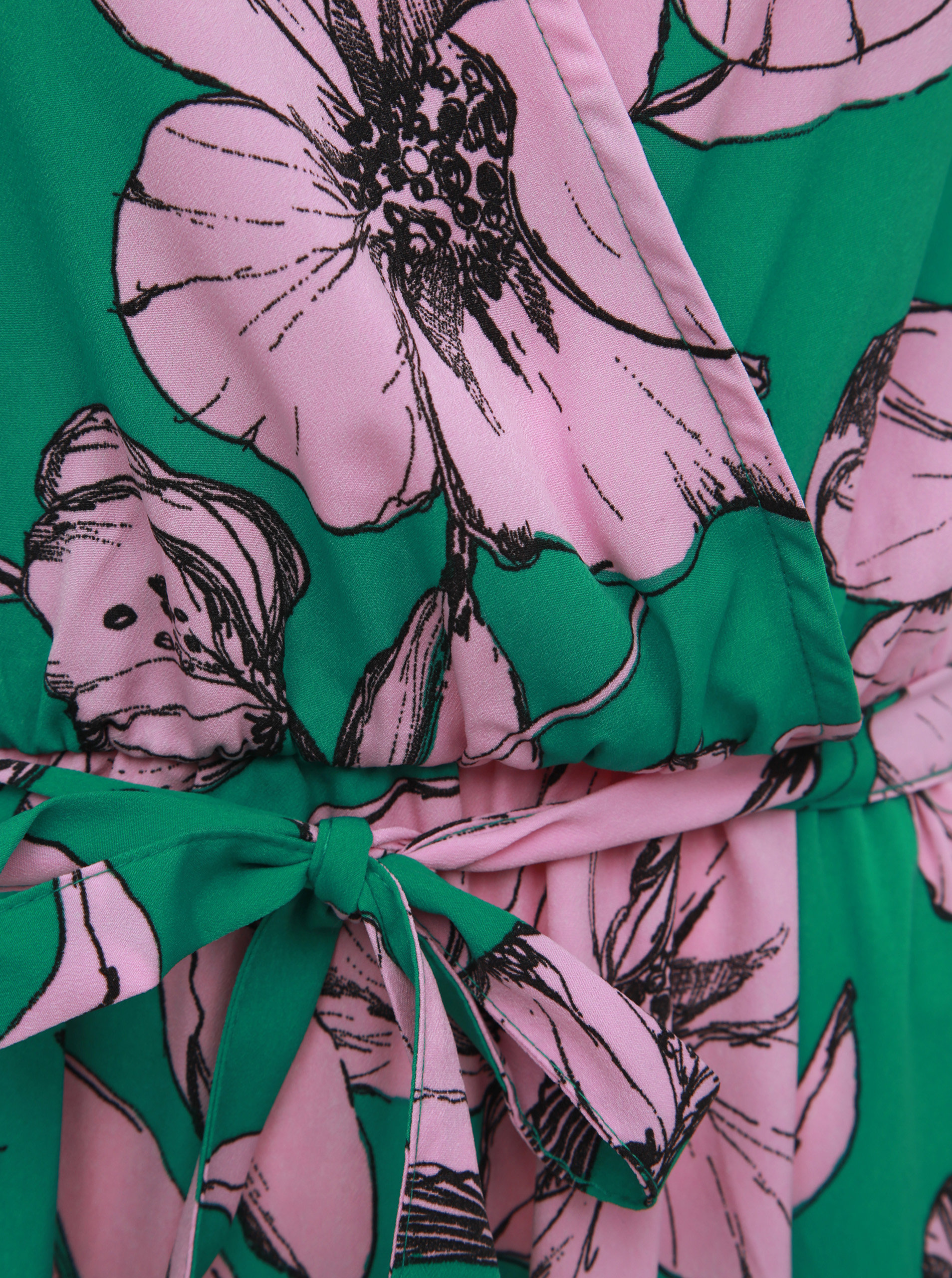 9536ffc2de Rúžovo-zelené kvetované maxišaty Jacqueline de Yong Kamma