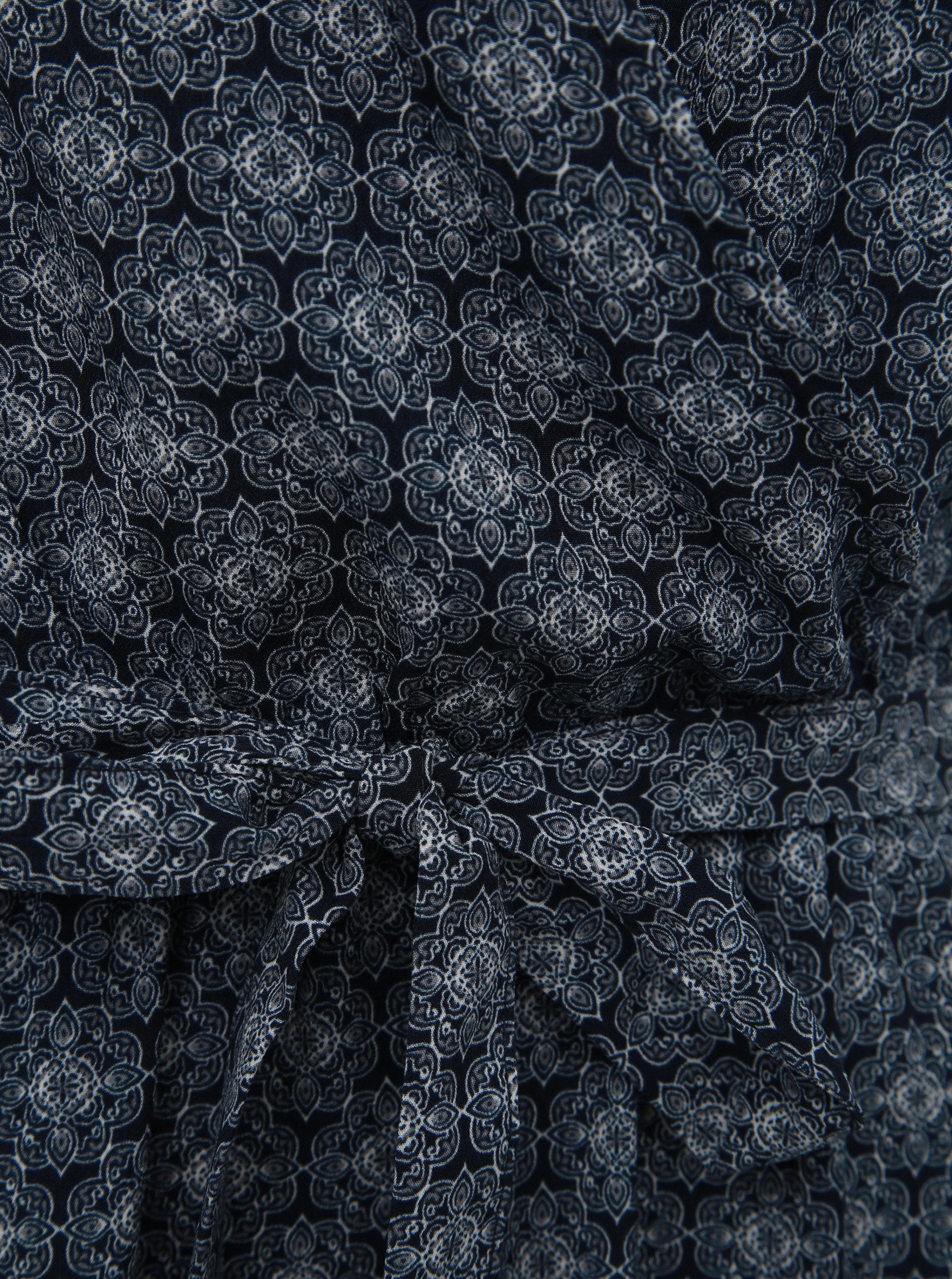0a6db57661 Tmavomodré vzorované maxišaty Jacqueline de Yong Kamma ...