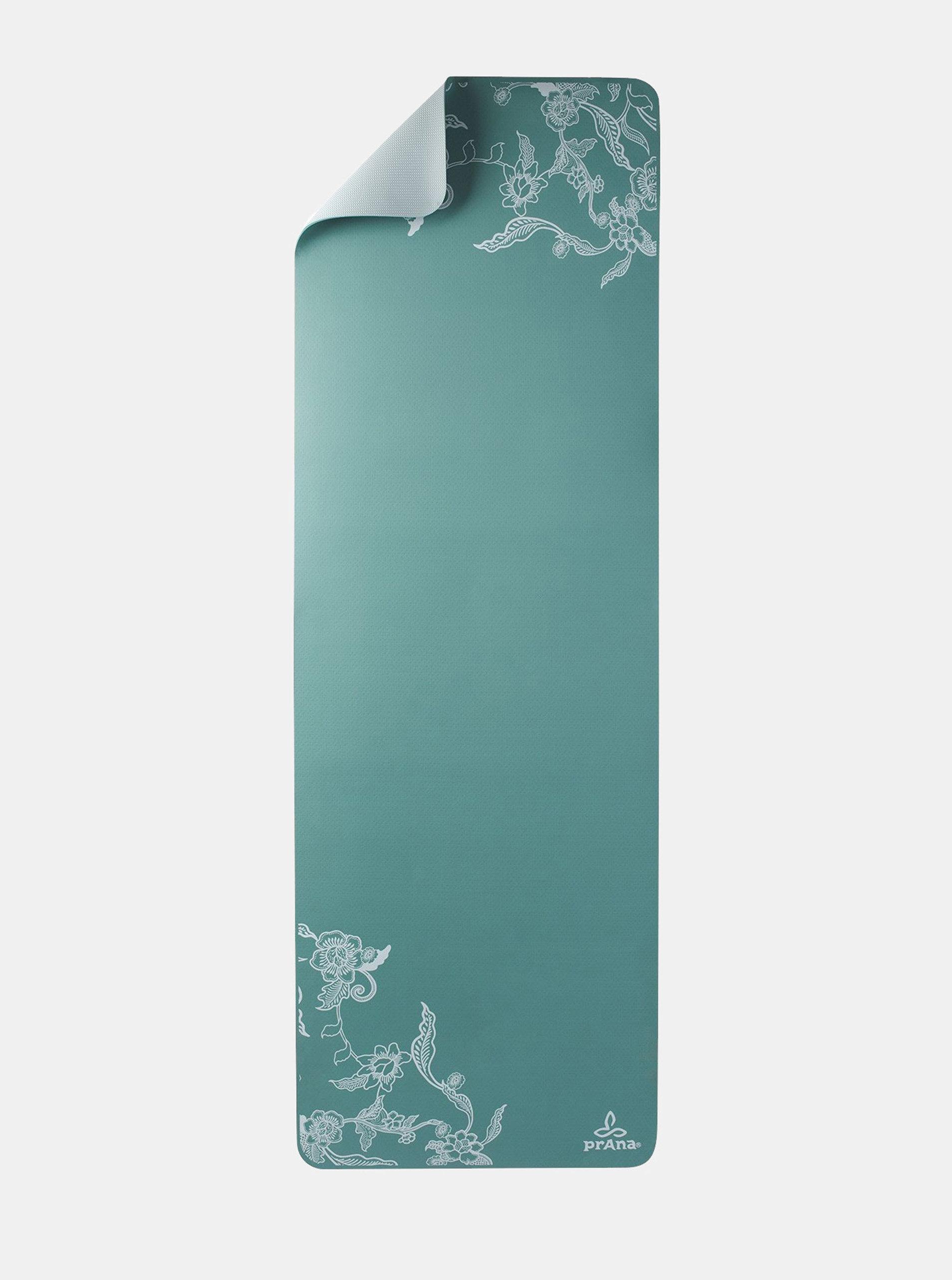 6353fe6cdf67f Zelená kvetovaná podložka na jógu prAna Henna   ZOOT.sk