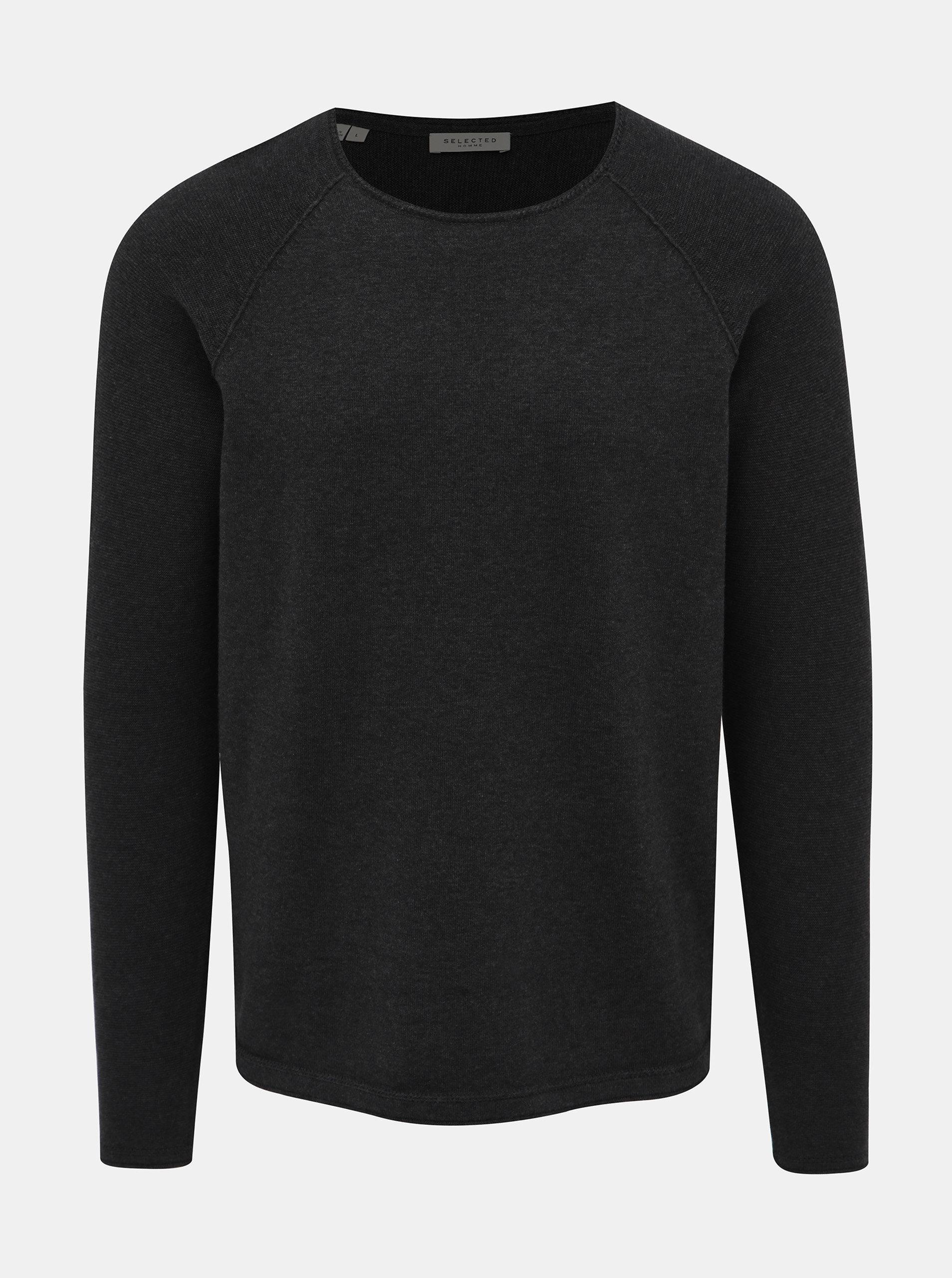 Tmavě šedý basic svetr Selected Homme Carter