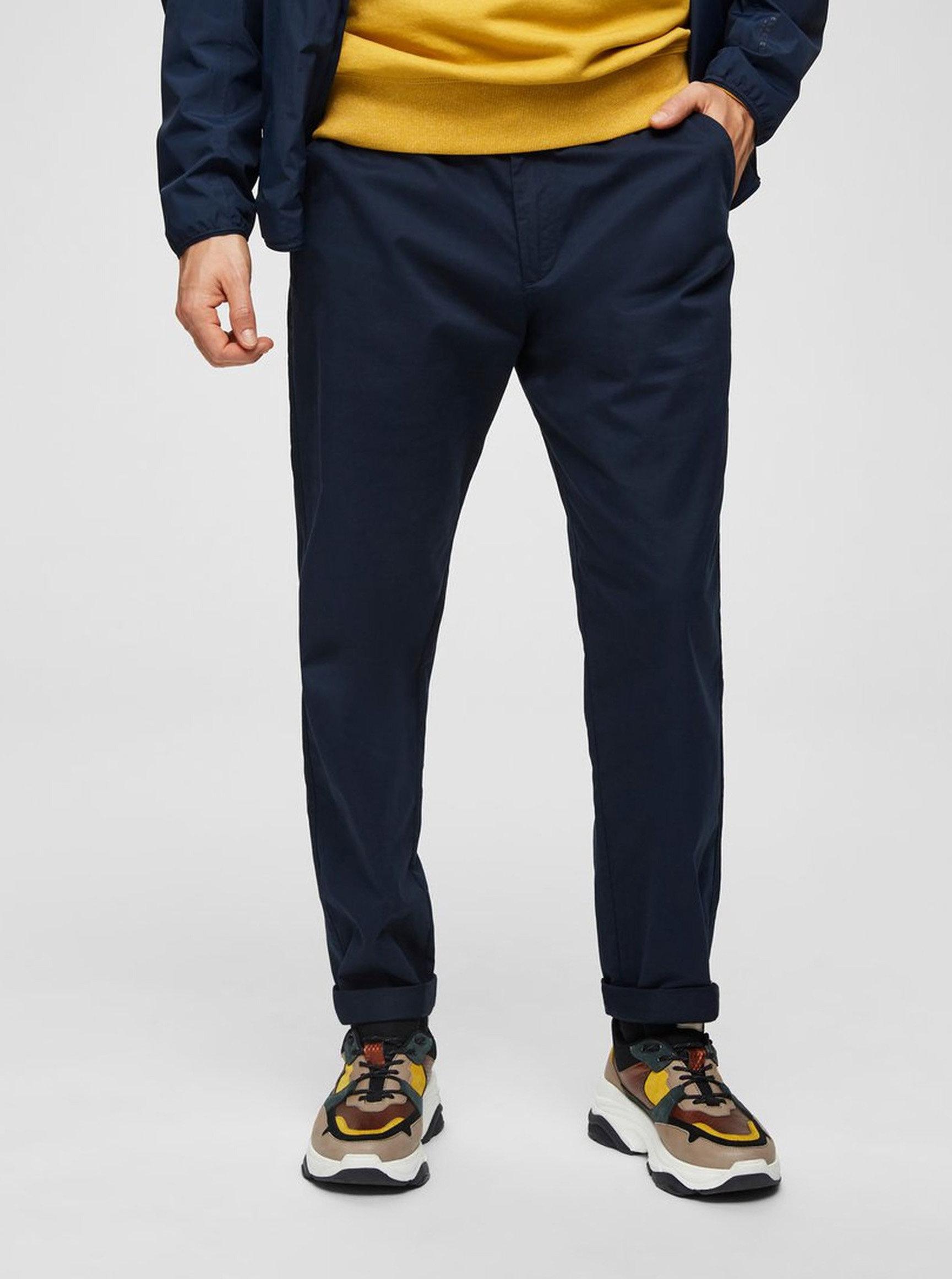 Tmavě modré chino kalhoty Selected Homme Luke