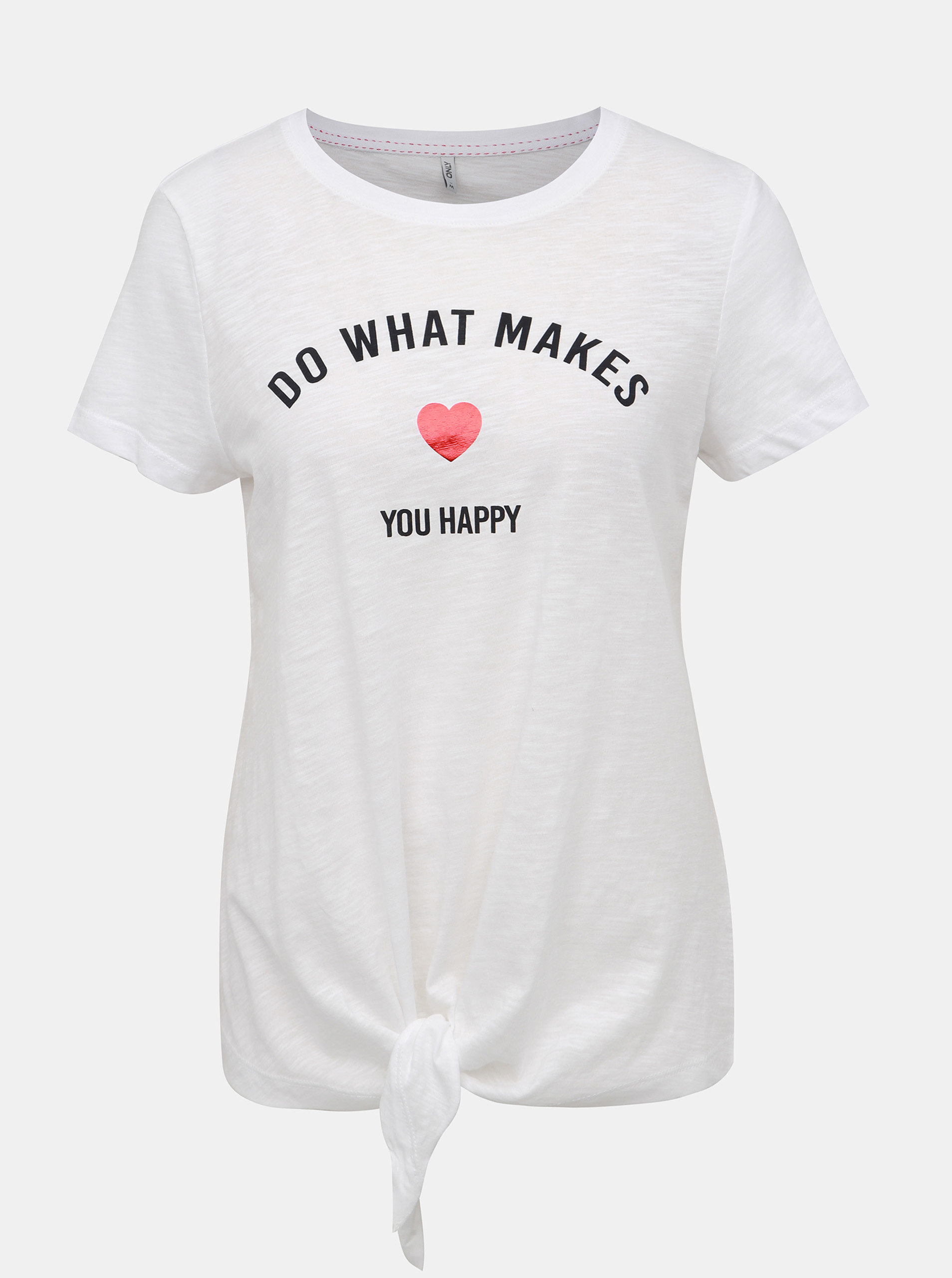 31b5a38129872 Biele tričko s potlačou ONLY Bine | ZOOT.sk