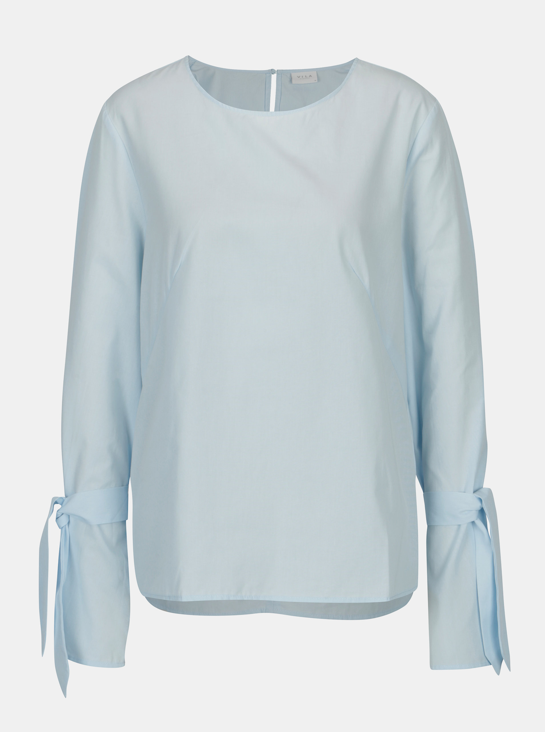 Světle modrá halenka se zvonovými rukávy VILA Jenner