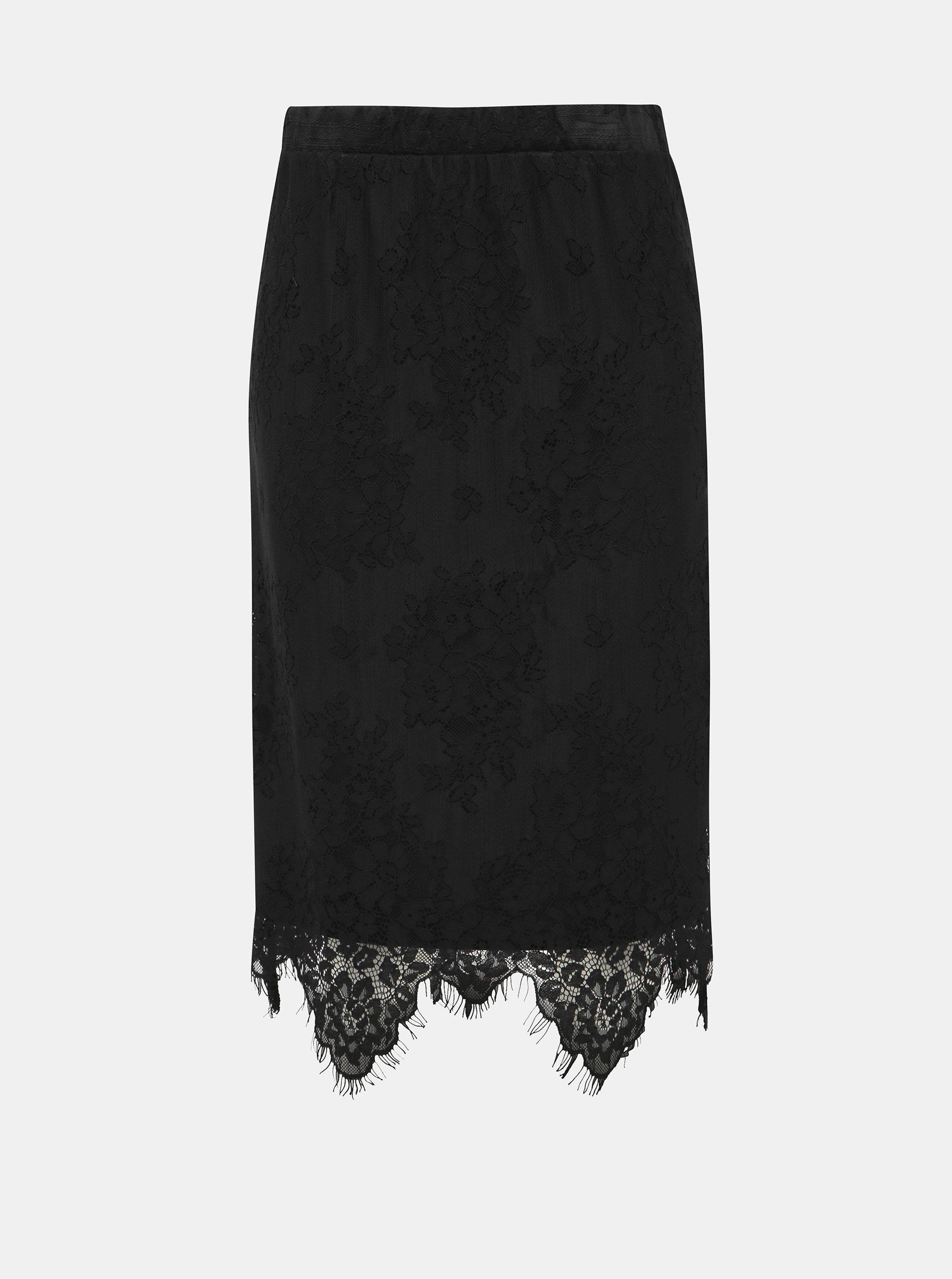 Černá krajková sukně Noisy May Jack
