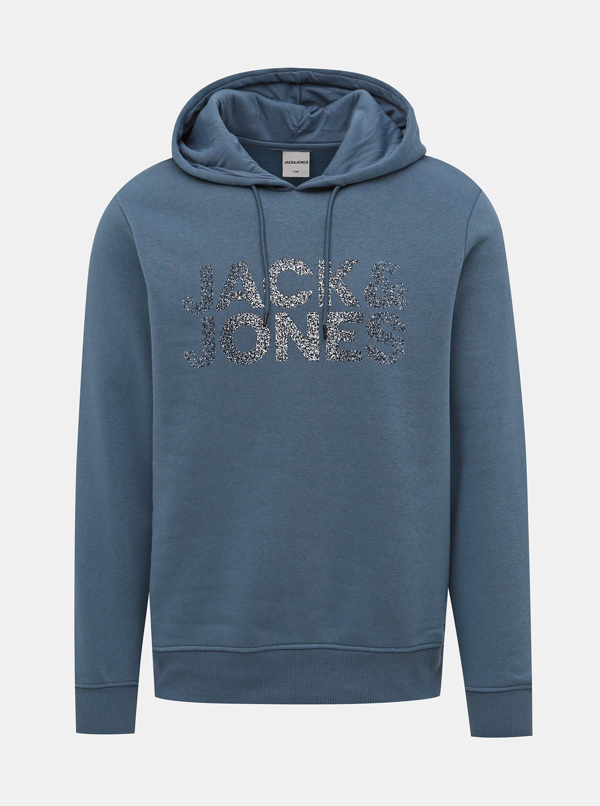 Modrá mikina Jack & Jones Thunder