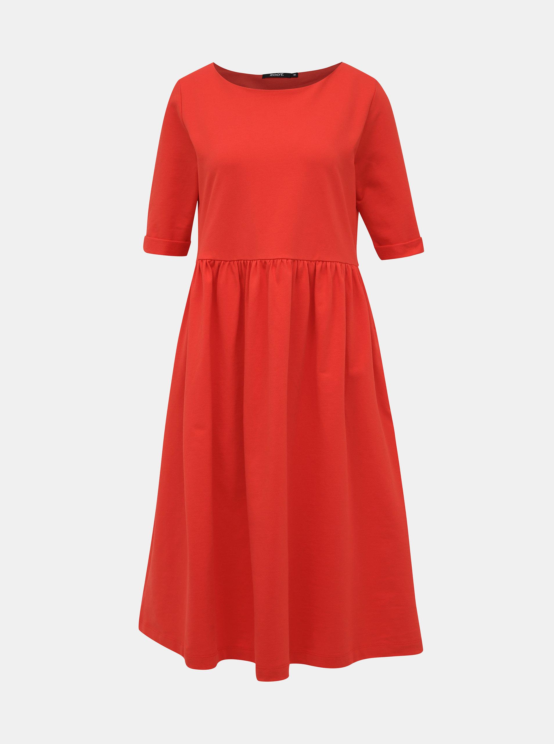Červené mikinové šaty ZOOT Monika