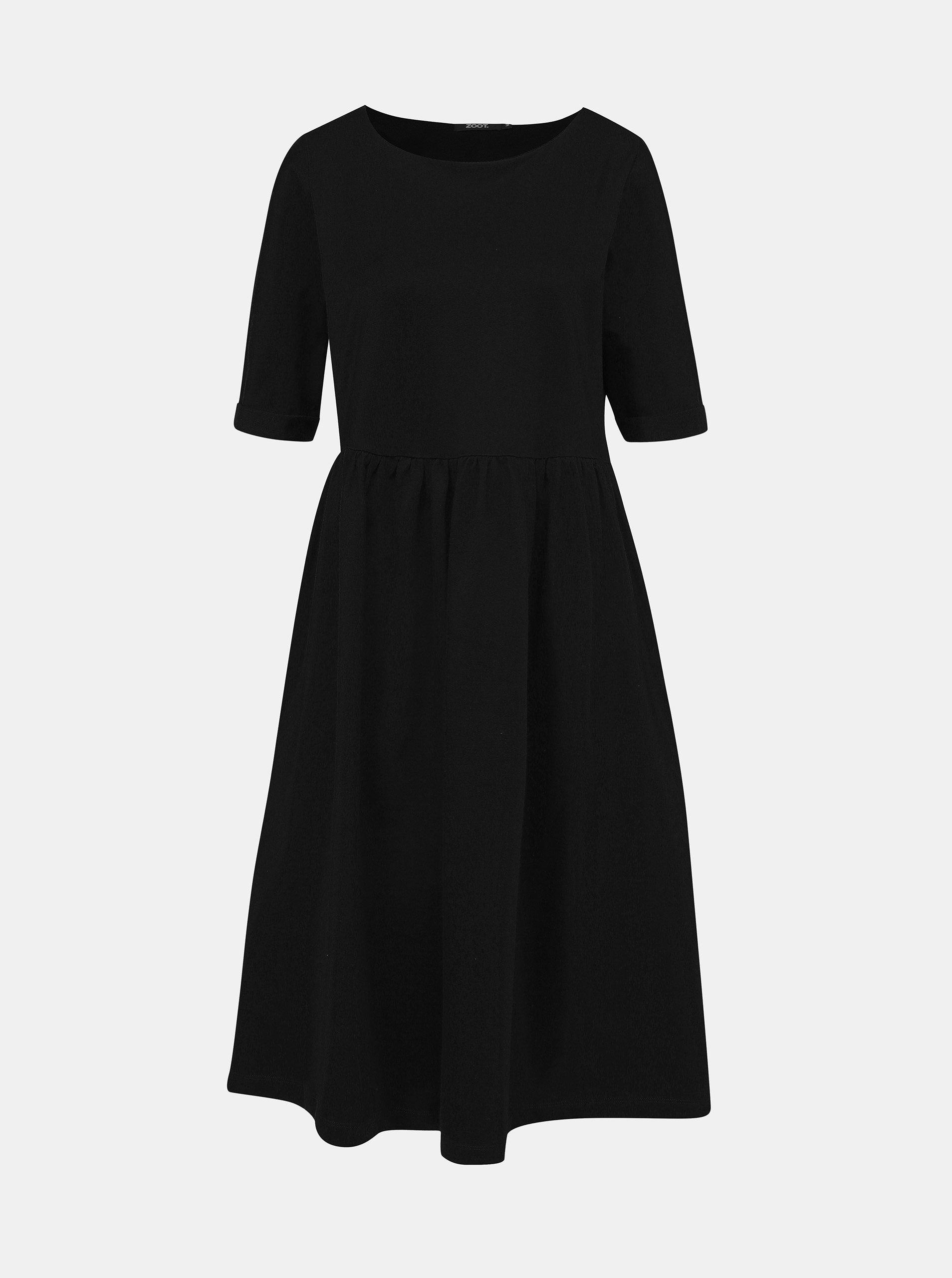 Černé mikinové šaty ZOOT Monika