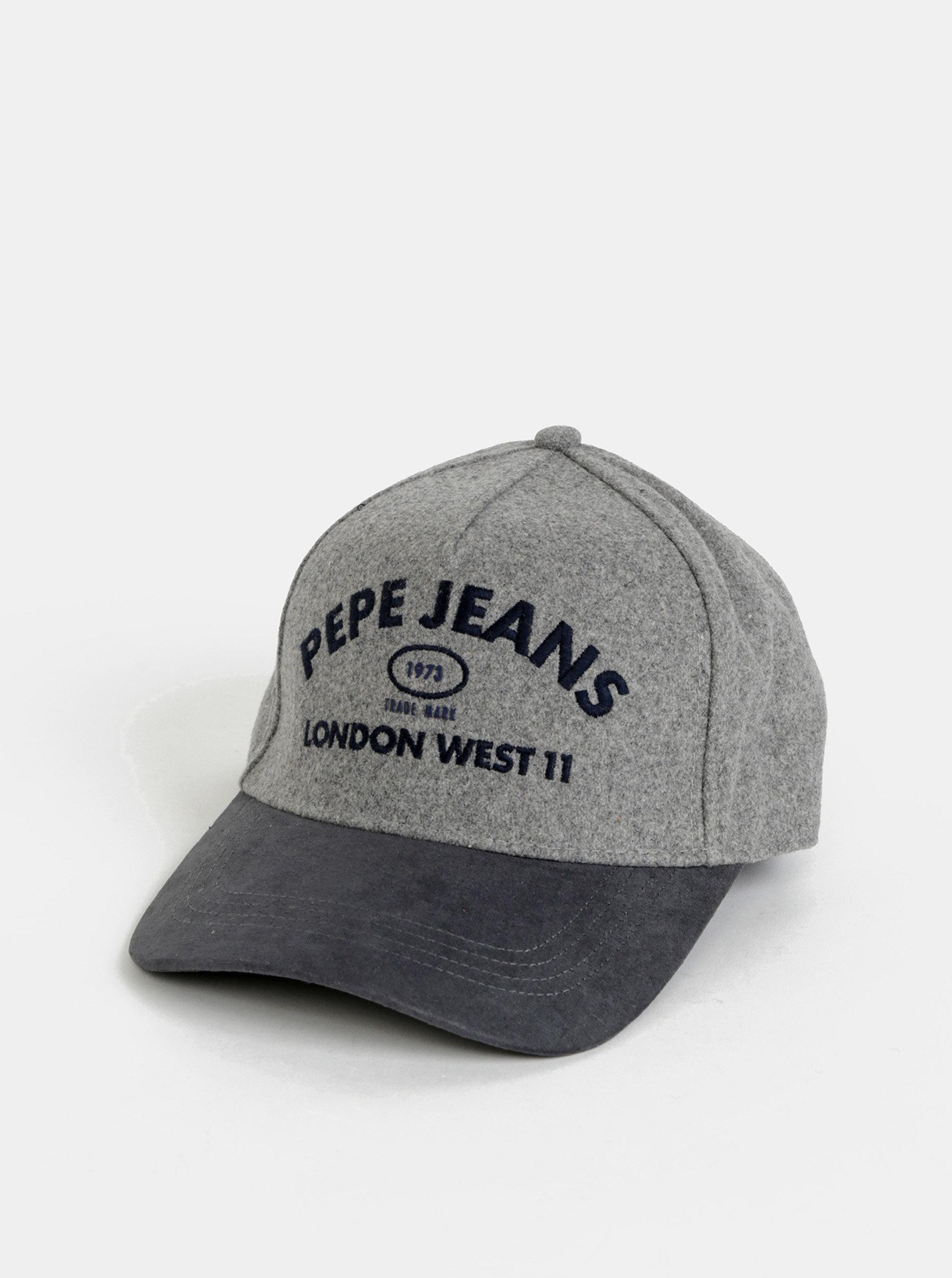 Šedá pánská vlněná kšiltovka Pepe Jeans Murray