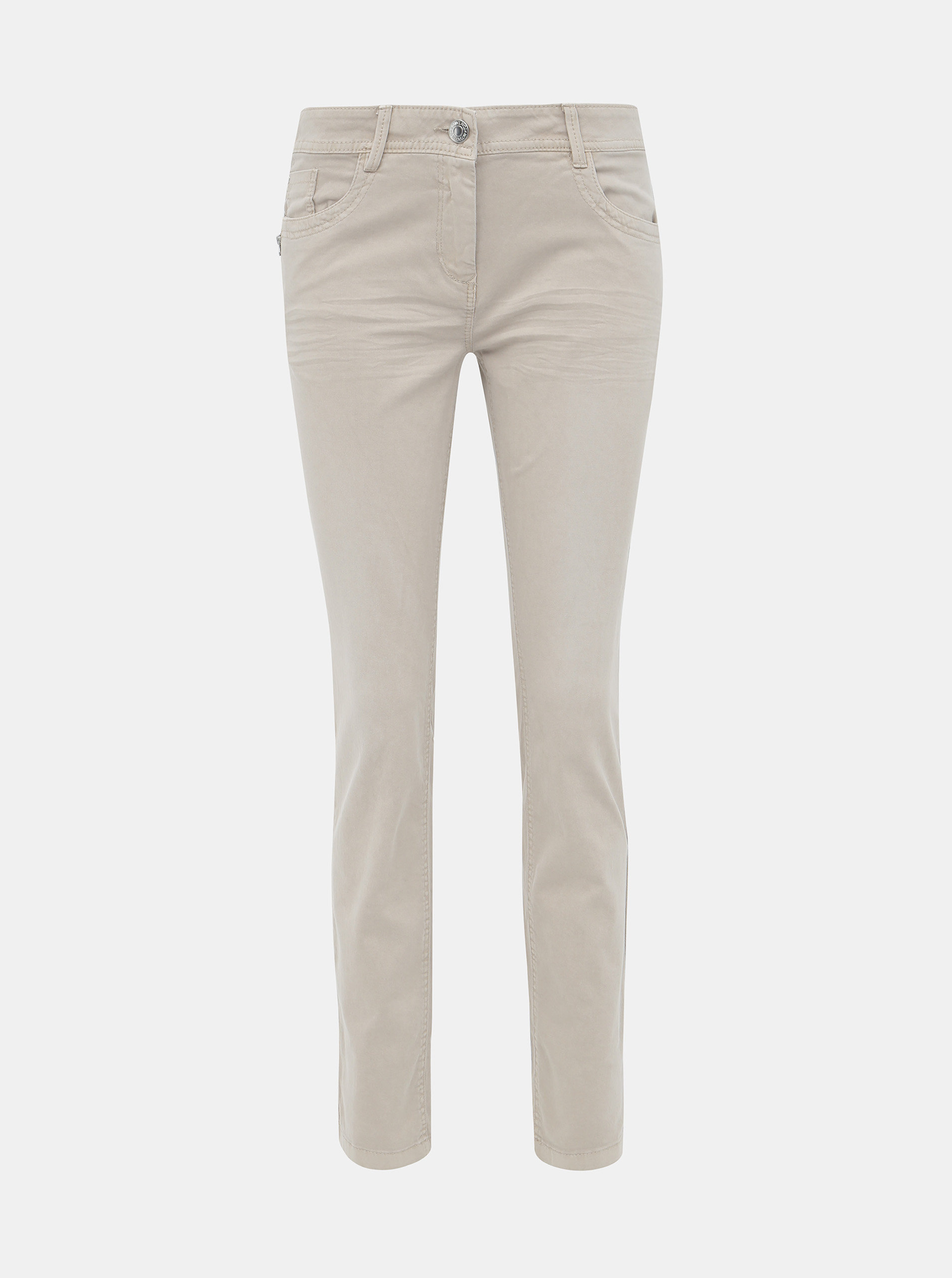 Béžové dámské slim fit džíny Tom Tailor Alexa