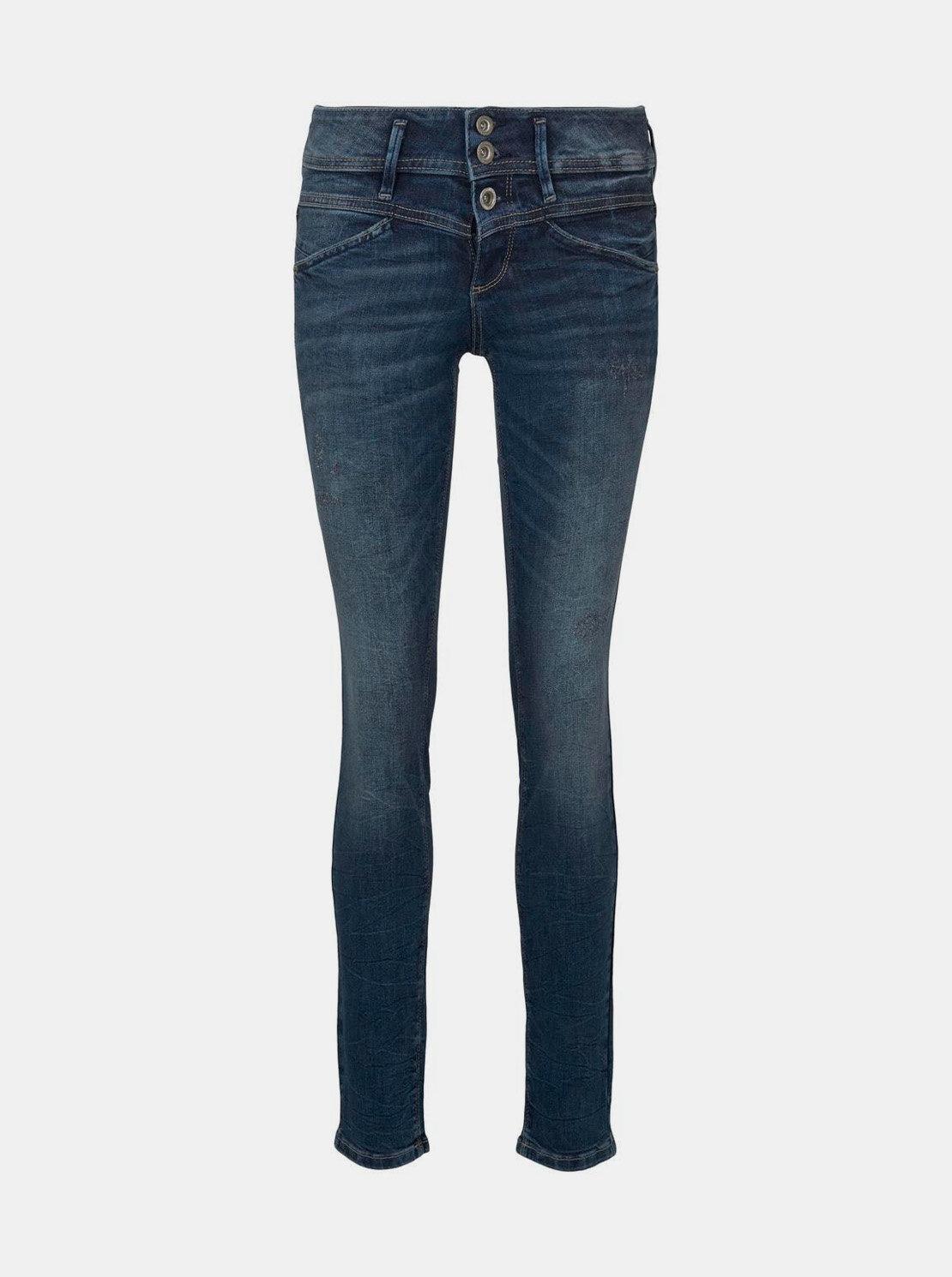 Modré dámské slim fit džíny Tom Tailor Alexa
