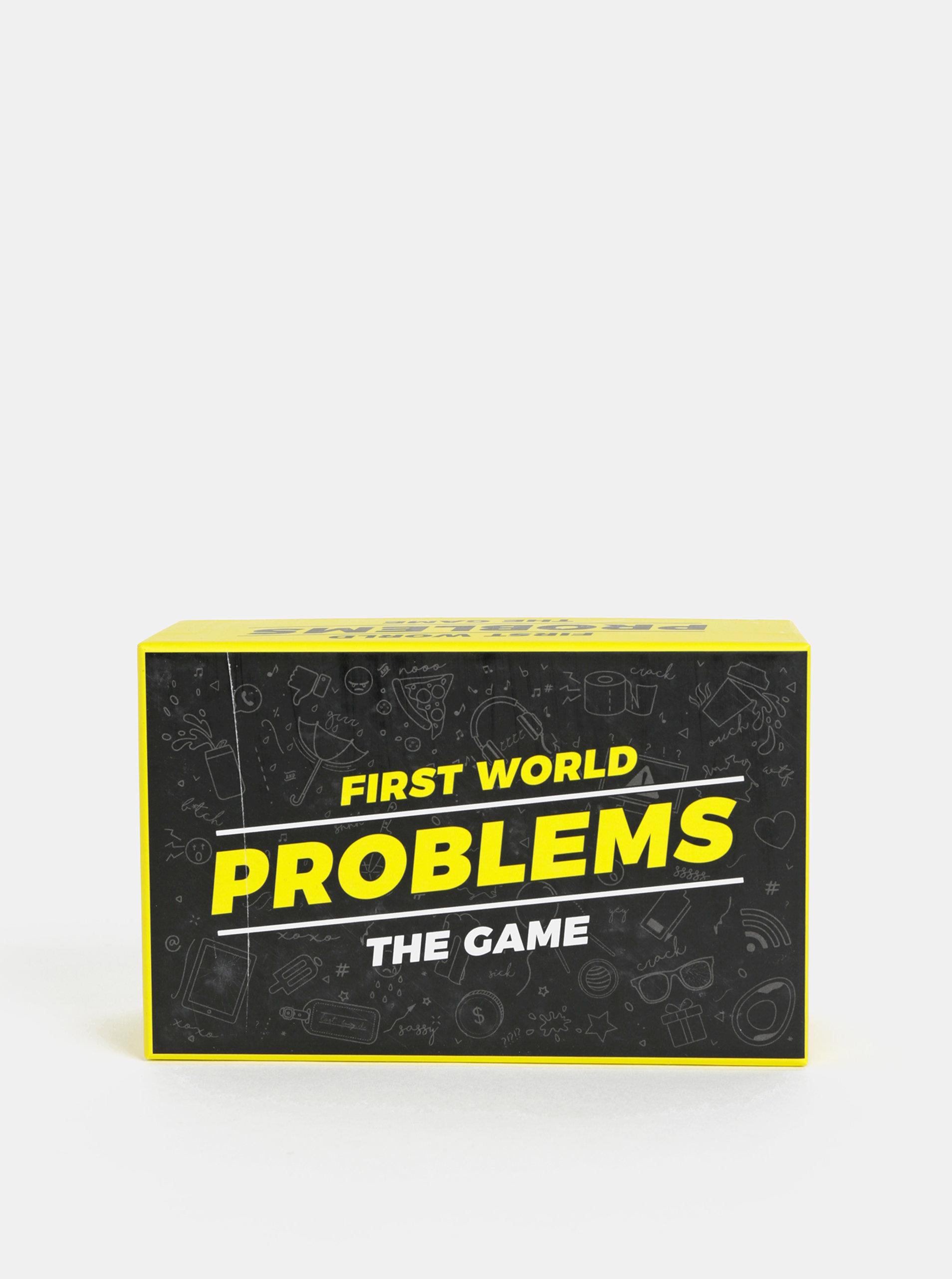 Karetní hra Problémy prvního světa v anglickém jazyce Gift Republic