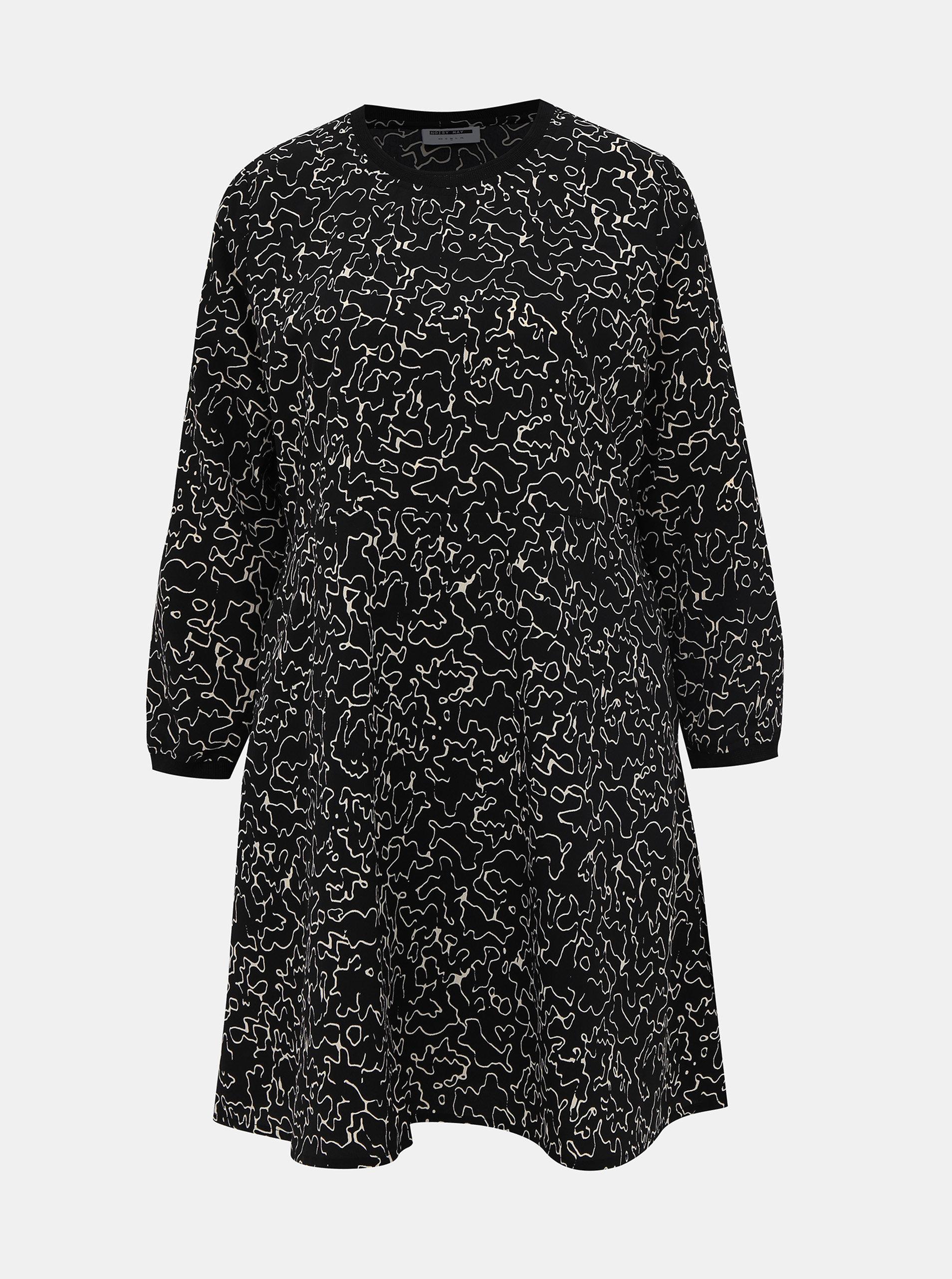 Černé vzorované šaty Noisy May Alena