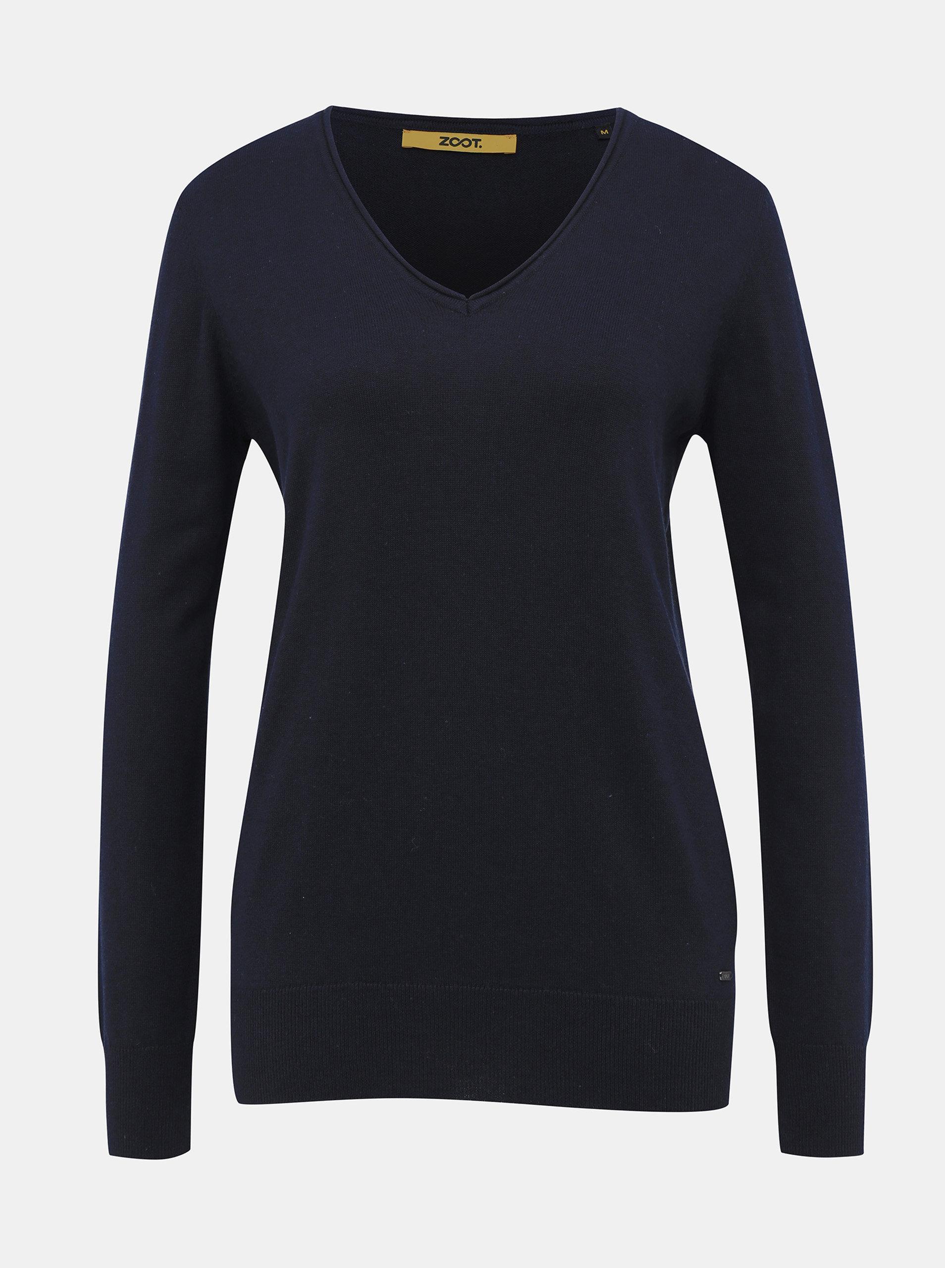 Tmavě modrý dámský basic svetr ZOOT Baseline Irma