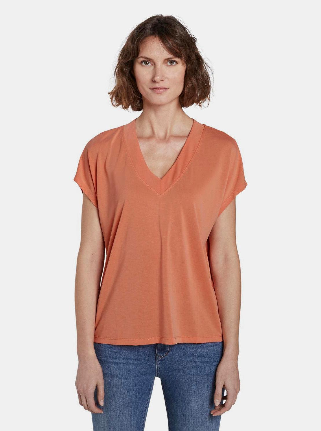Fotografie Oranžové dámské tričko Tom Tailor