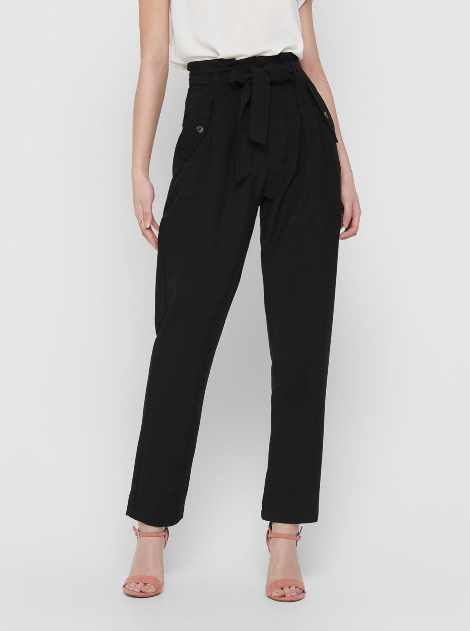 Černé kalhoty s kapsami Jacqueline de Yong Selma