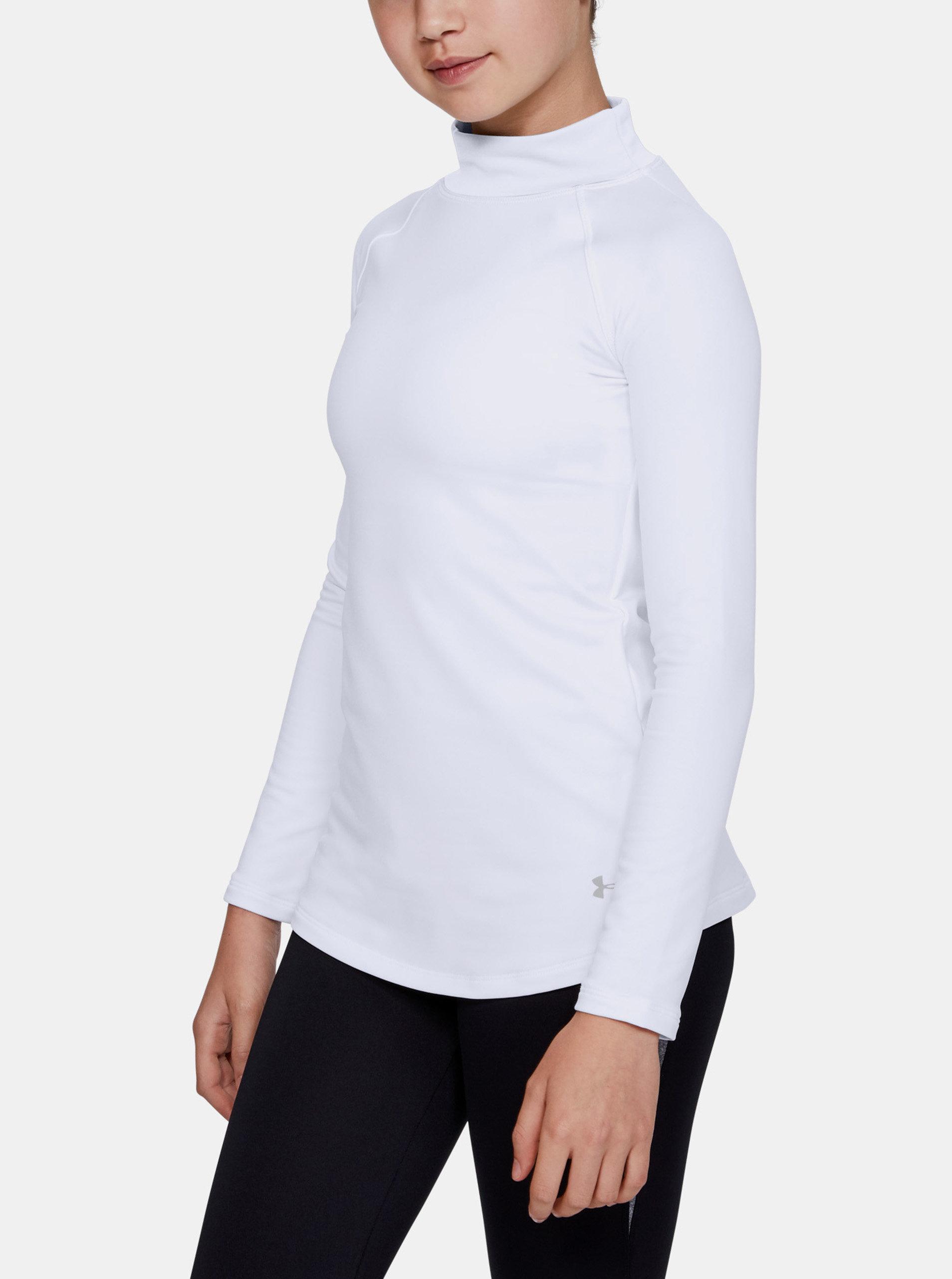 Bílé holčičí tričko ColdGear Under Armour