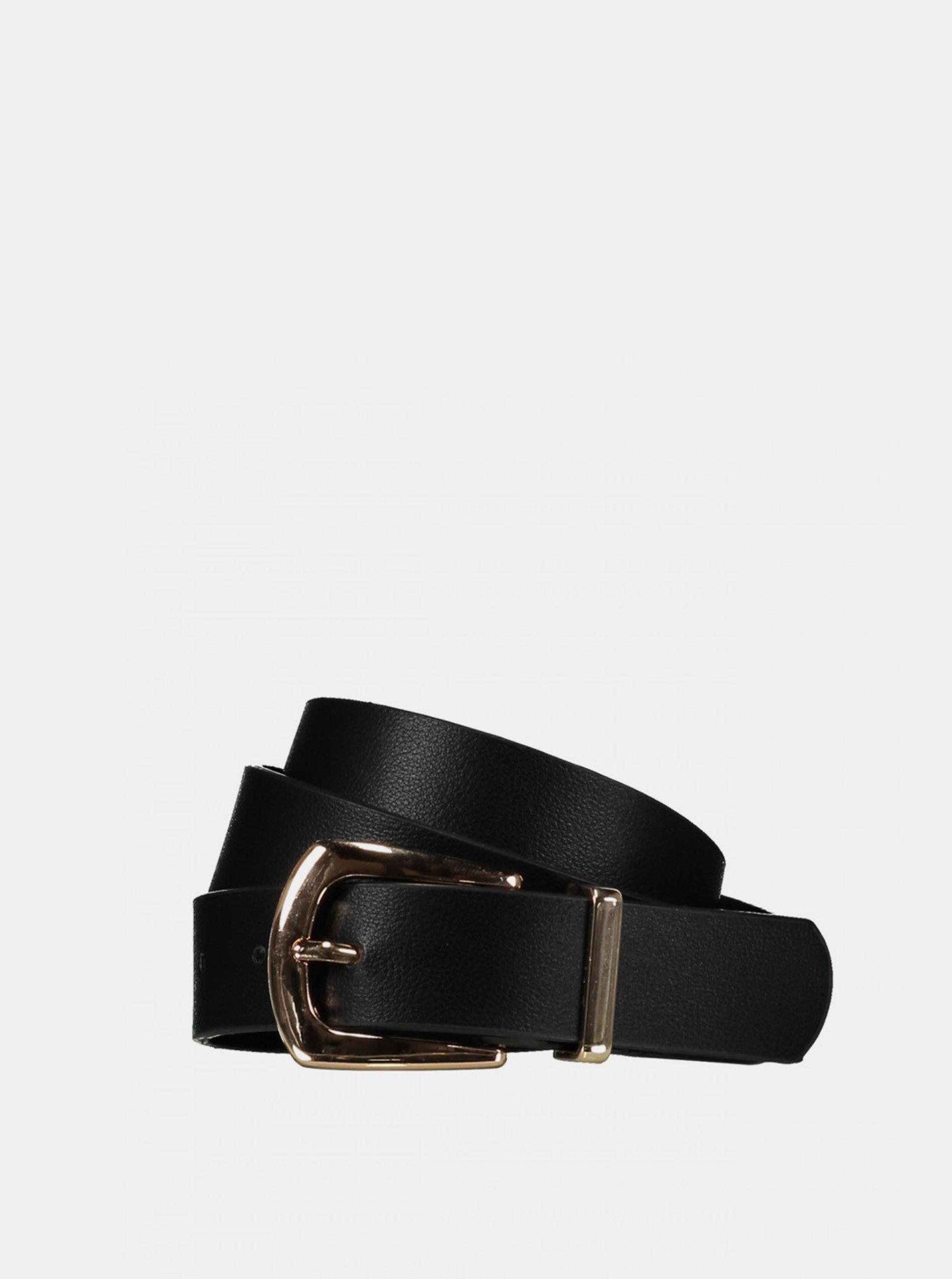 Černý dámský kožený pásek Haily´s Inna