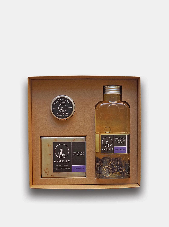 Dárková sada se sprchovým olejovým Cuvée s vůní levandule Angelic