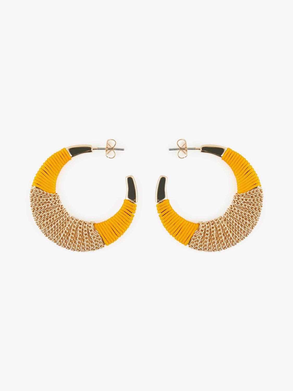 Žluto-zlaté náušnice Pieces Nura