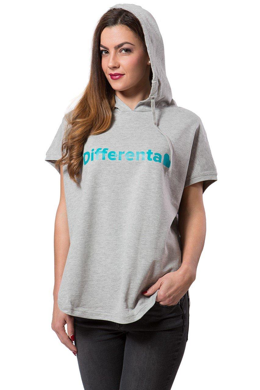 Differenta Design šedá dámská mikina Free Turquoise