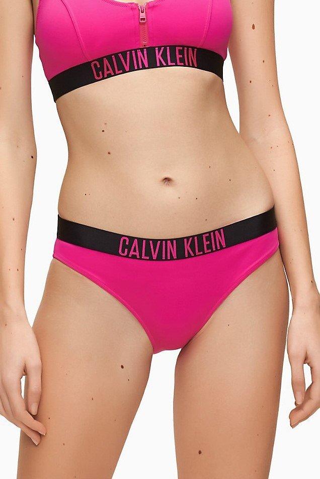 Calvin Klein růžový spodní díl plavek Classic Bikini Pink Glo