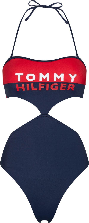 Tommy Hilfiger jednodílné plavky Cheeky Cut Out One-Piece